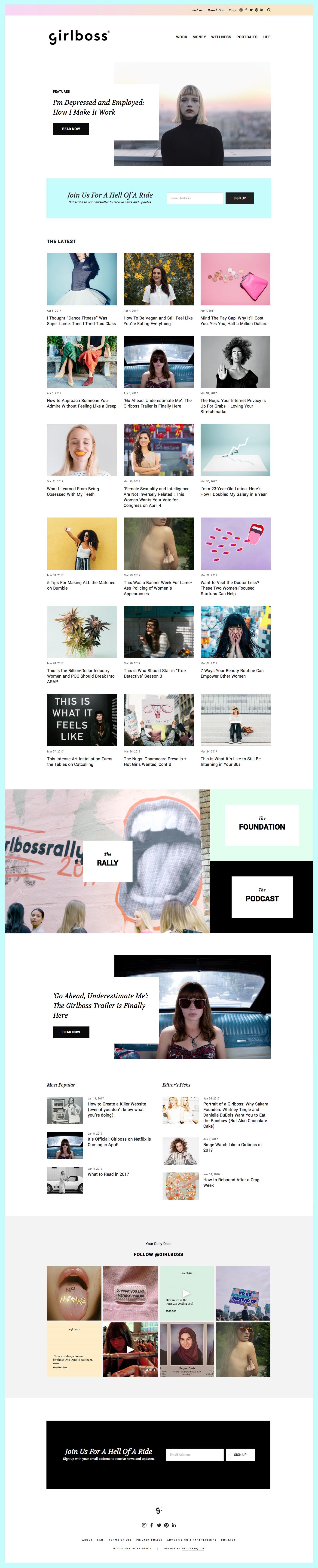 Original Girlboss Website Design | By GoLive