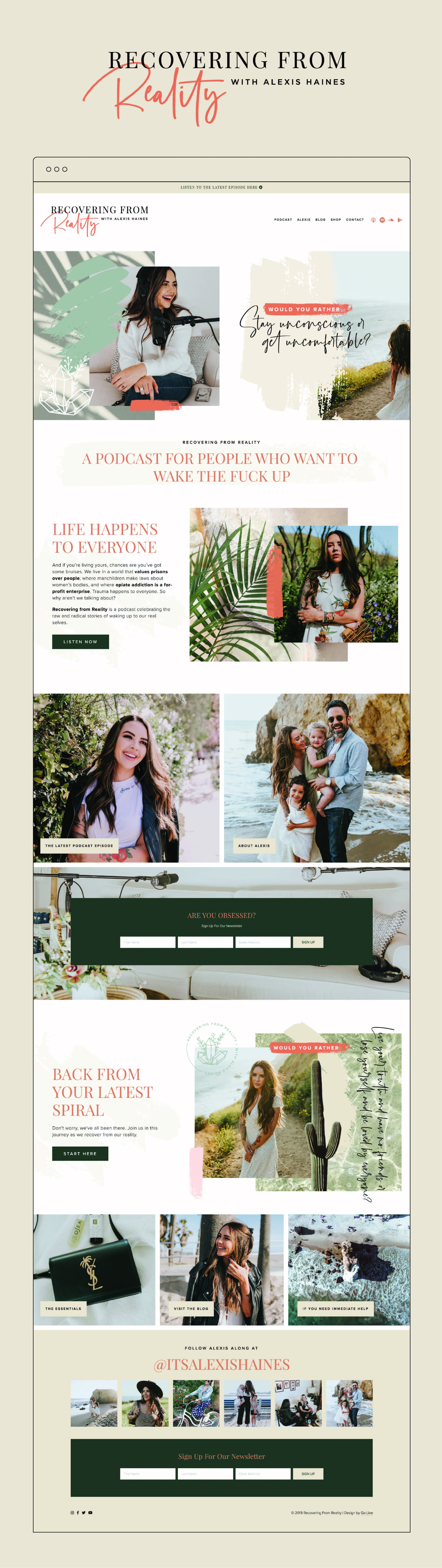 Modern, Eclectic and Colorful Website Design For Squarespace | By GoLive