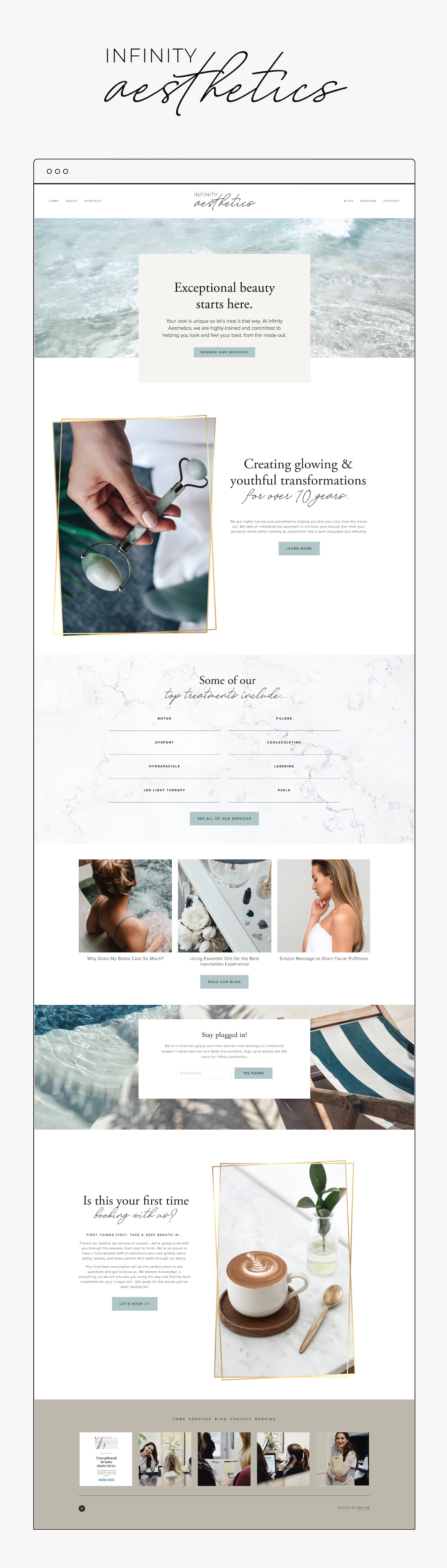 Squarespace Design For Med Spa Skincare Clinic Golive Squarespace Website Templates