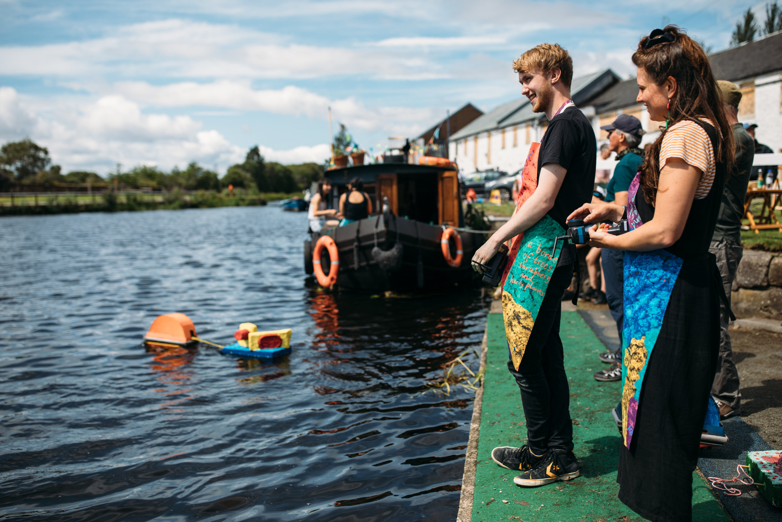 Pulpworks - Pester & Rossi  Commissioned for the 2019 Glasgow Canal Festival  Photography ©JassyEarl