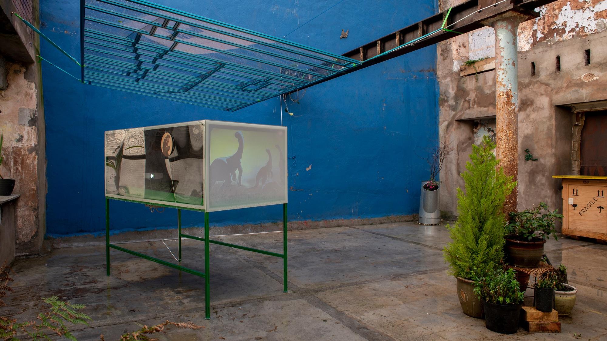 2 Mirko Canesi, Contra, Cinema for Basil, Mirko Canesi, Contra, Garden, 2018 at David Dale Gallery, Glasgow.jpg