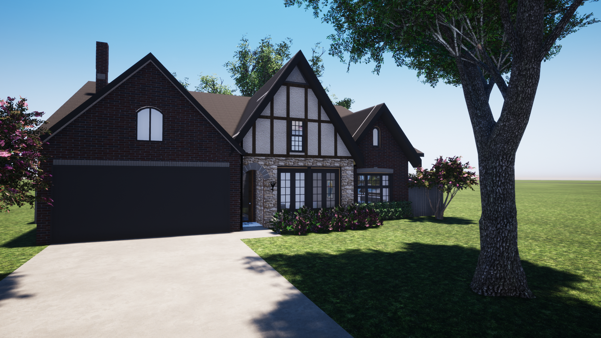 This is the final design we ended up designing for their replacement house! Full on Tudor!