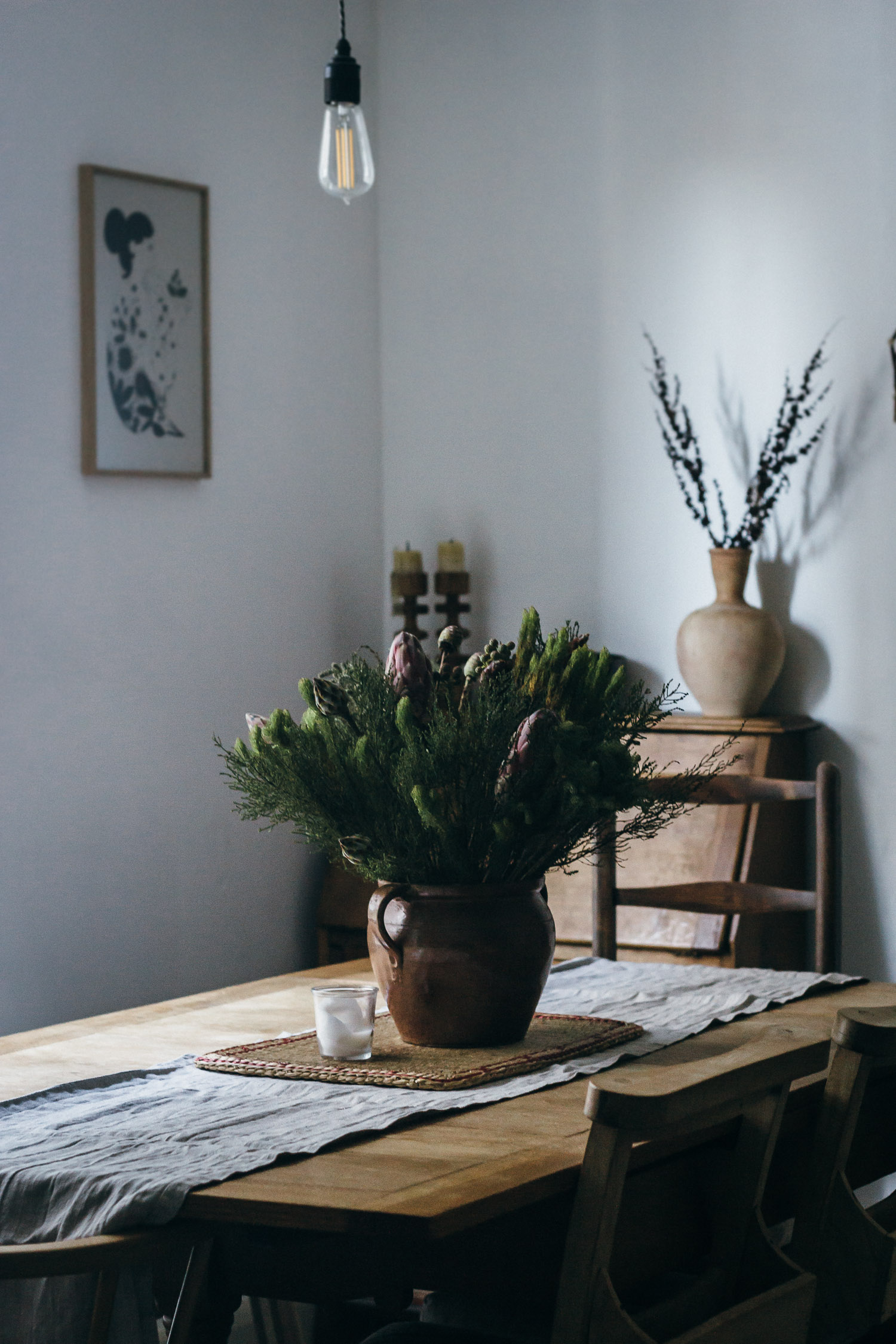 Restoration reveal. Restored family kitchen table.