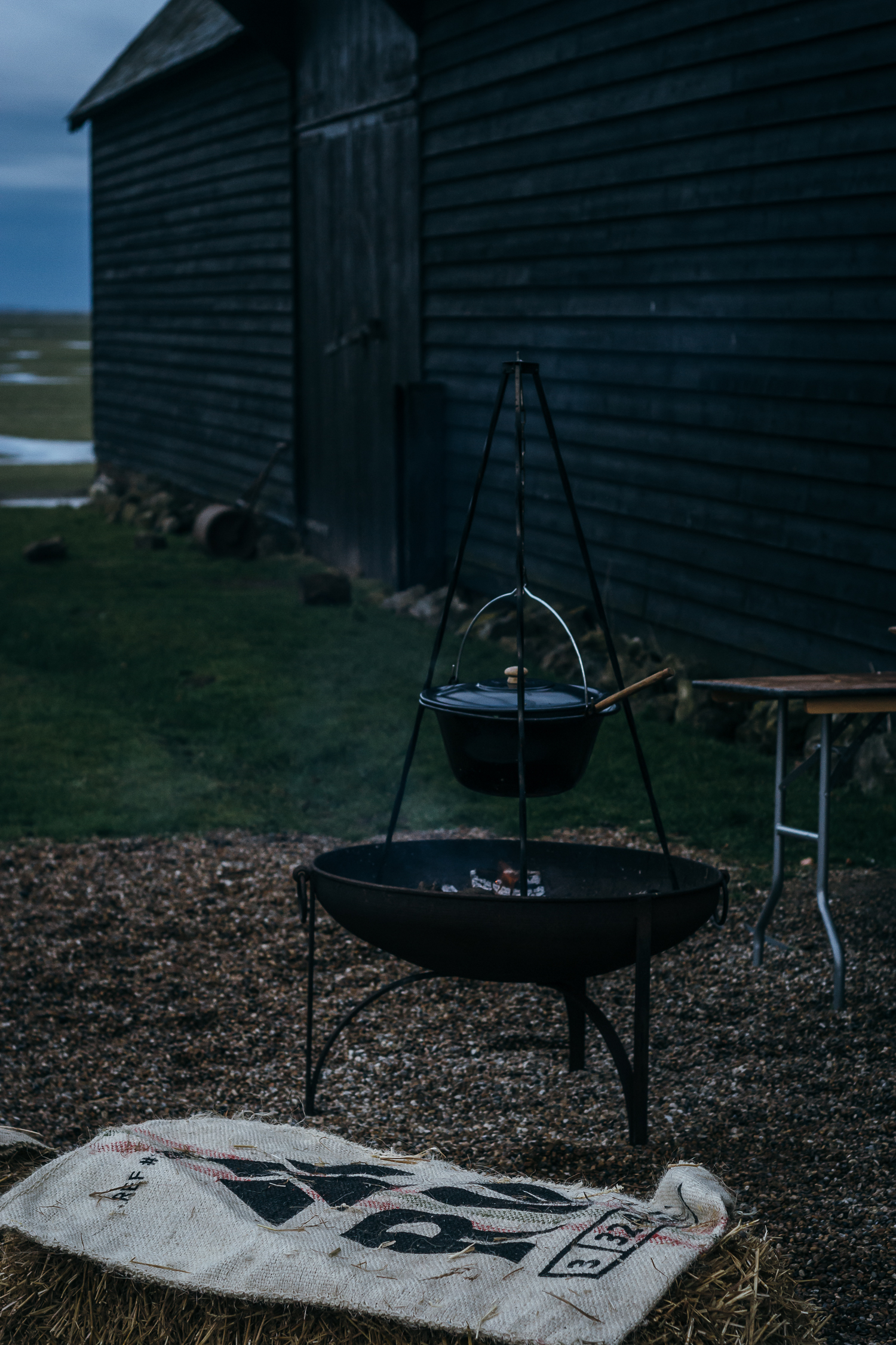 slow living event - outdoor cooking