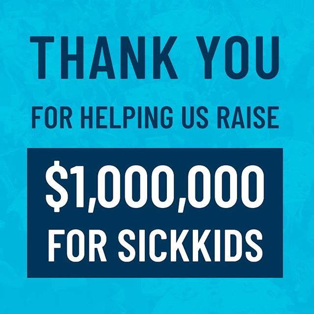 What an incredible morning!  We are pleased to announce that we have reached a major milestone. Together, over the past eight years, we have cumulatively raised over $1,000,000 in support of SickKids. .  We are not stopping there. .  Our team commits to raising another $1,000,000 in support of SickKids - but in half the time. .  Thank you to our sponsors, champions, attendees, donors, committee members, and supporters who all work to make this event successful. We are excited to see what the next four years bring! . . .  #champs4sickkids #sickkidsvs
