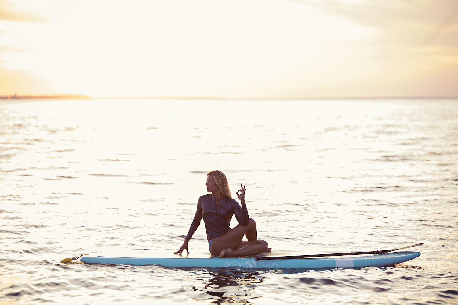 jess sunset paddleboard