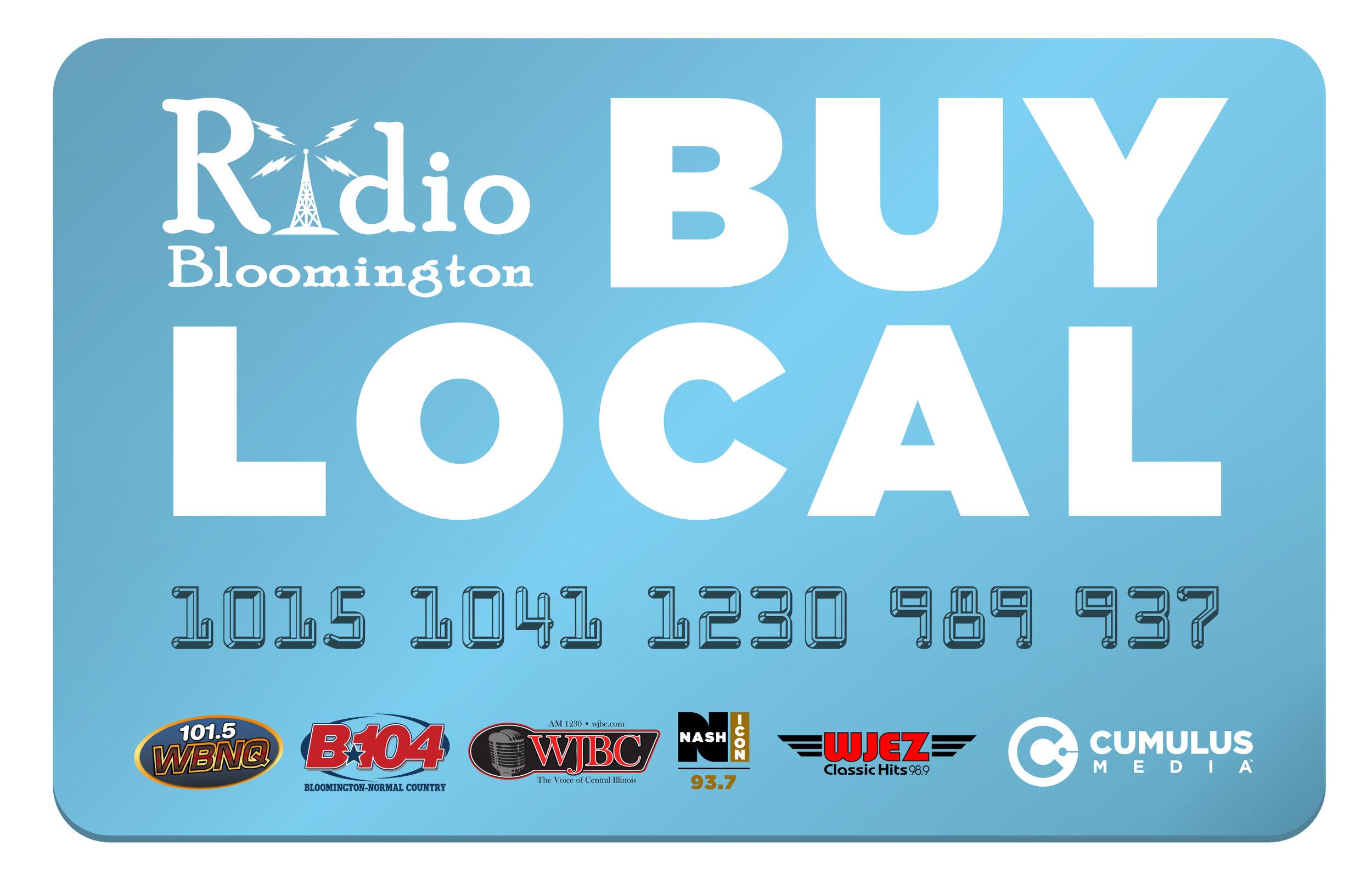 Radio Bloomington Buy Local Campaign Logo 2018