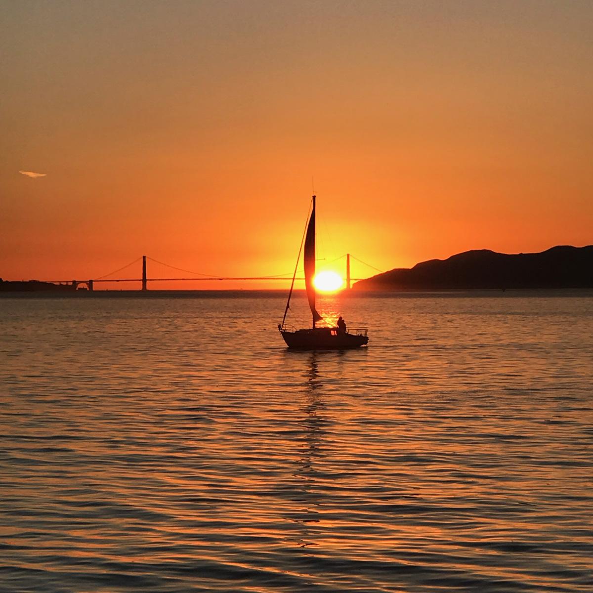 Sailboat at Sunset 1
