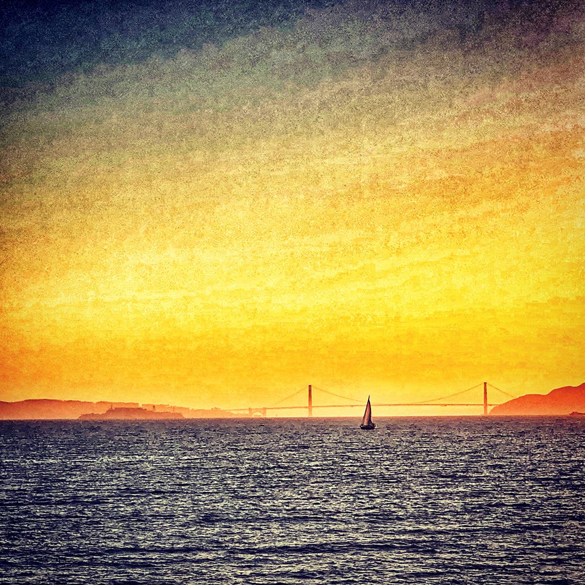 Sailing in Golden Light