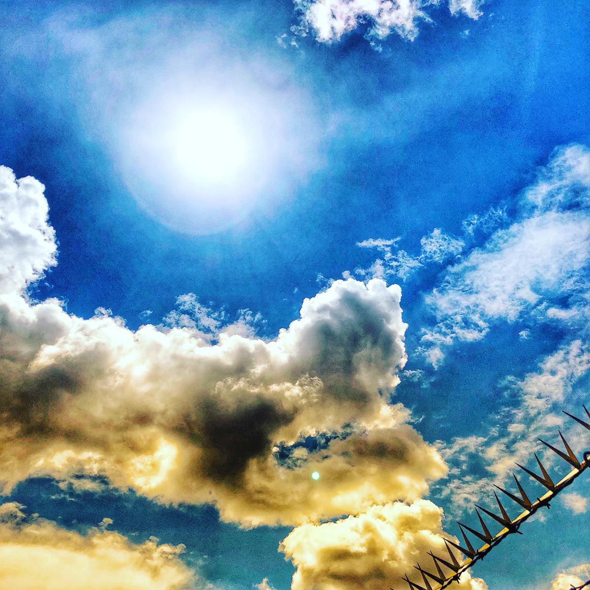 Cloudy Sky Through the Barbs 2