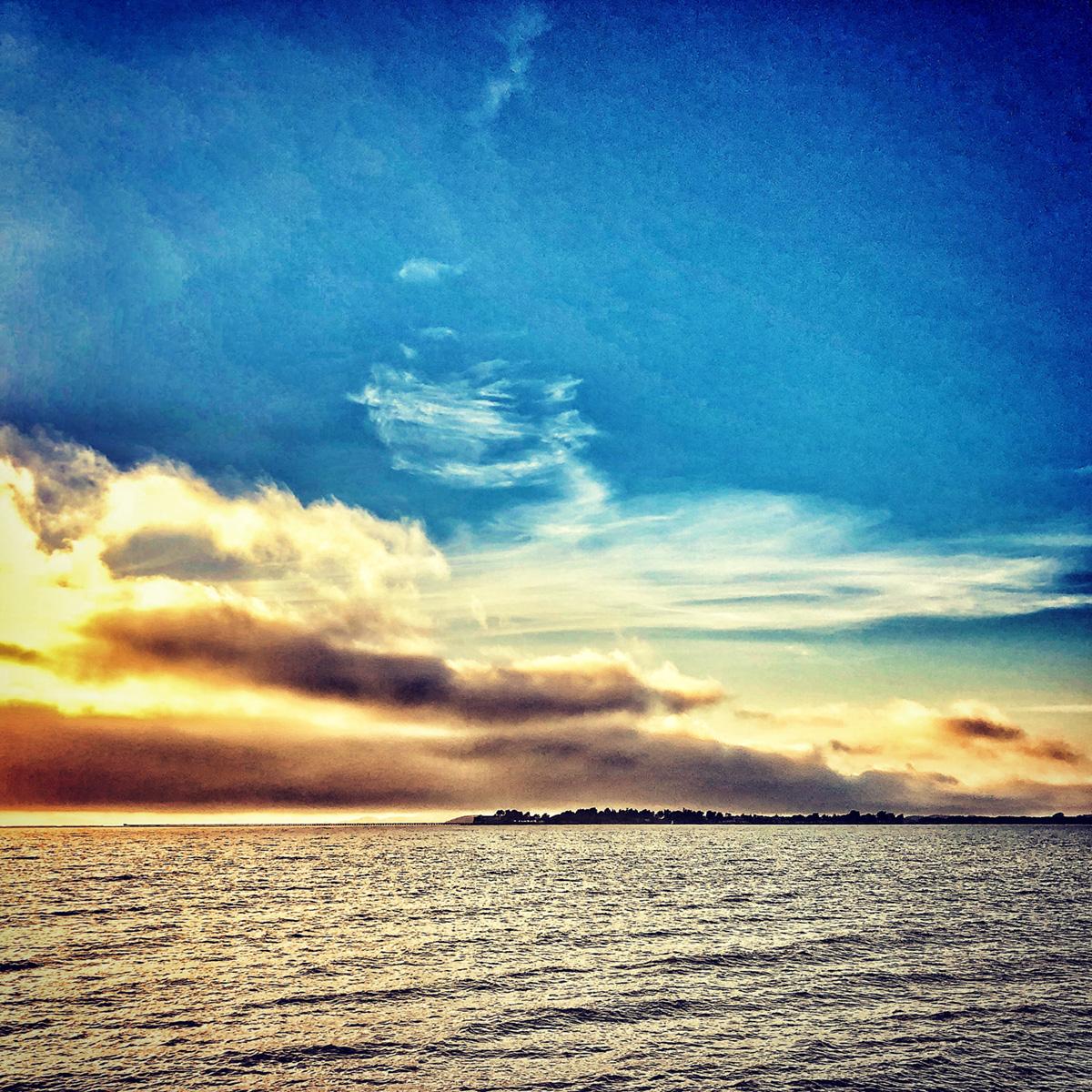 Mixed Clouds Over Berkeley Marina