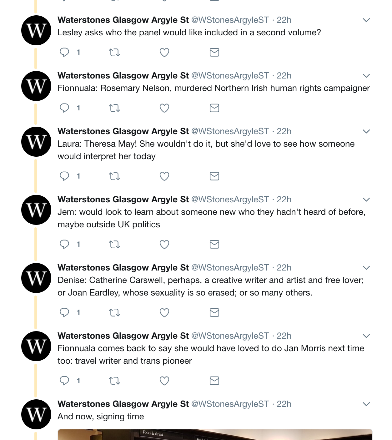 Live Twitter Coverage from Glasgow Waterstones