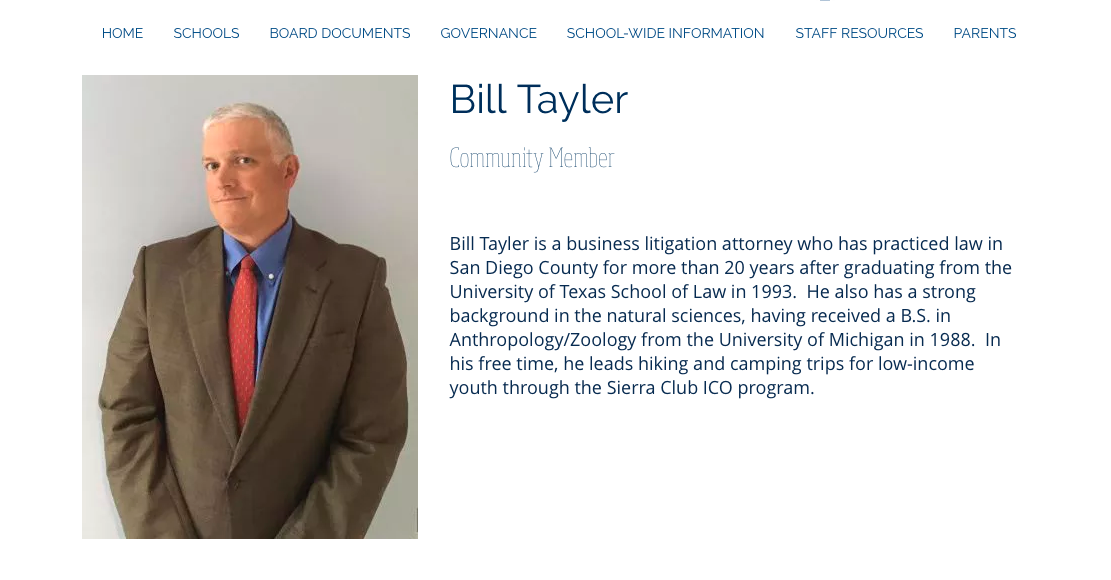 Bill Taylor is a Lawyer in San Diego who works with the Sierra Club San Diego and supports Nick Gee of the San Diego Hiking Society. Bill Taylor Sierra Club San Diego