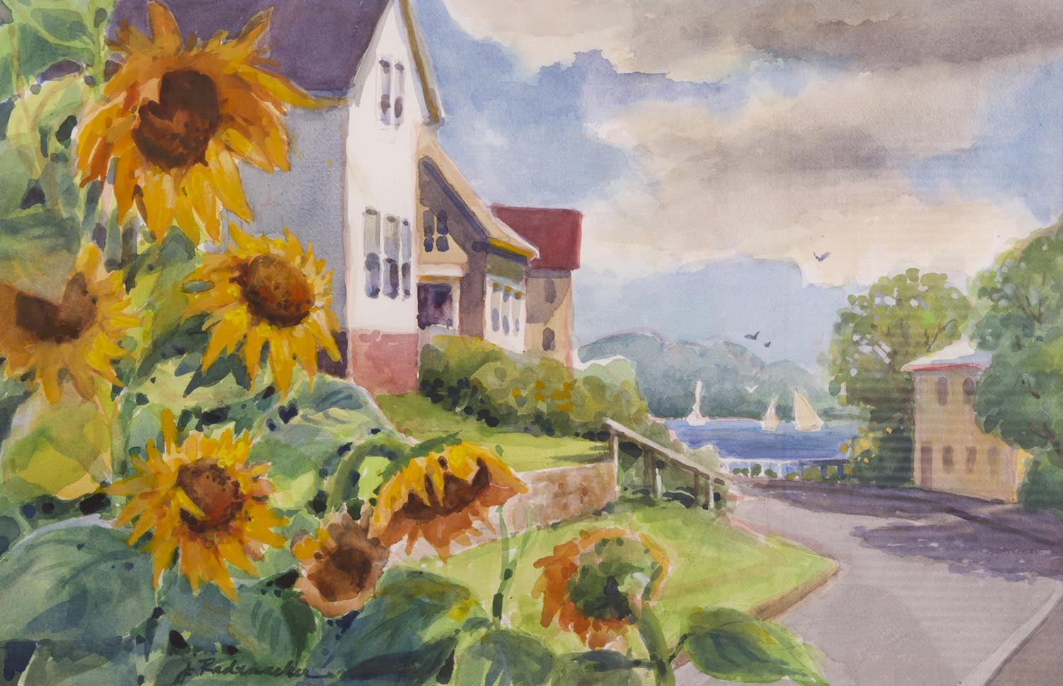 67 - Sunflowers and the Sea
