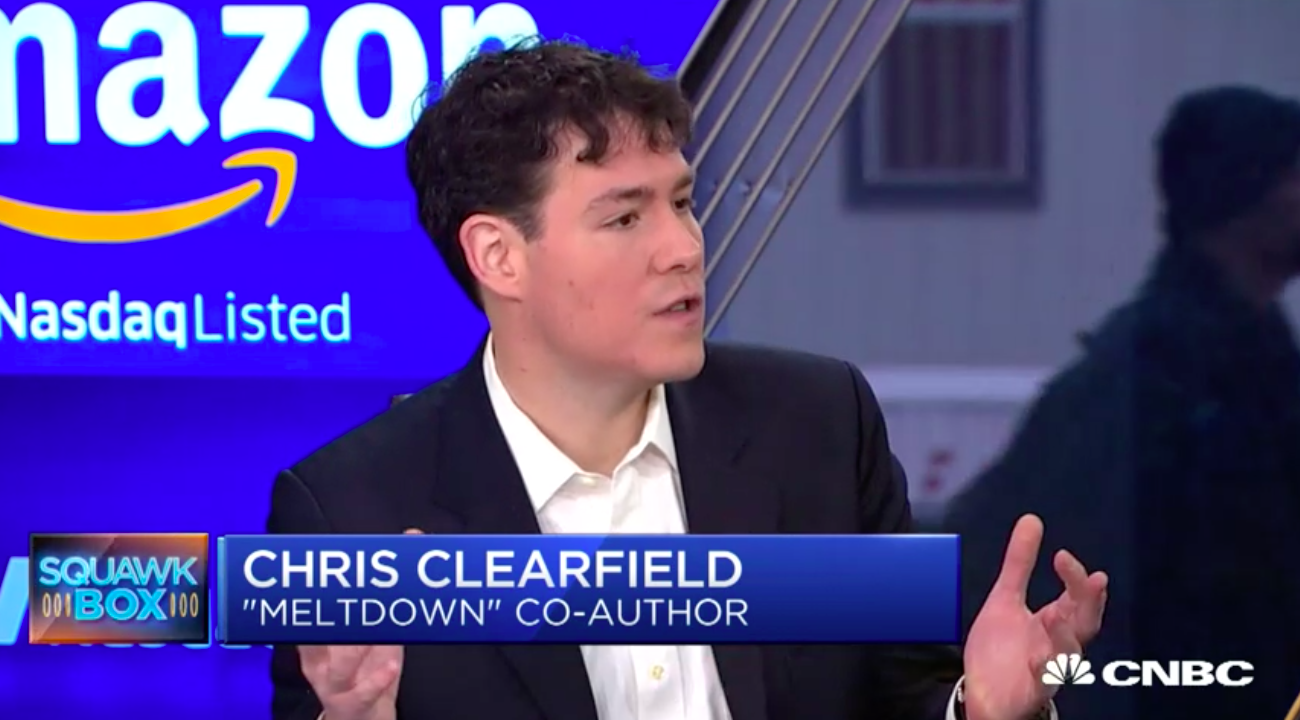 """CNBC:    Chris Clearfield, """"Meltdown"""" author and former derivatives trader, talks about recent high-profile security breaches and what companies can do to shore up their online security."""