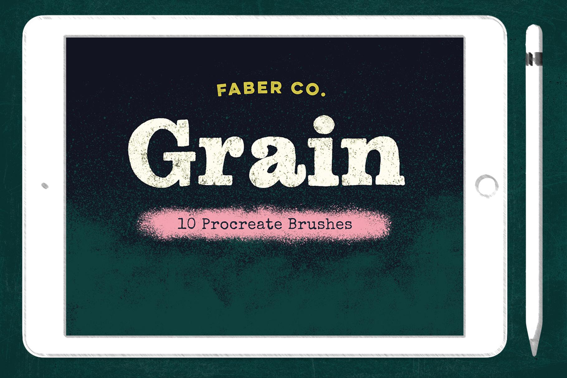 Grain Procreate Brush Set