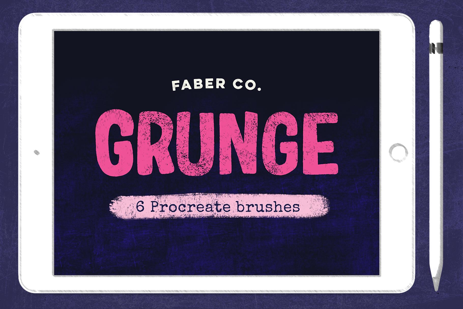Grunge Procreate Brushes