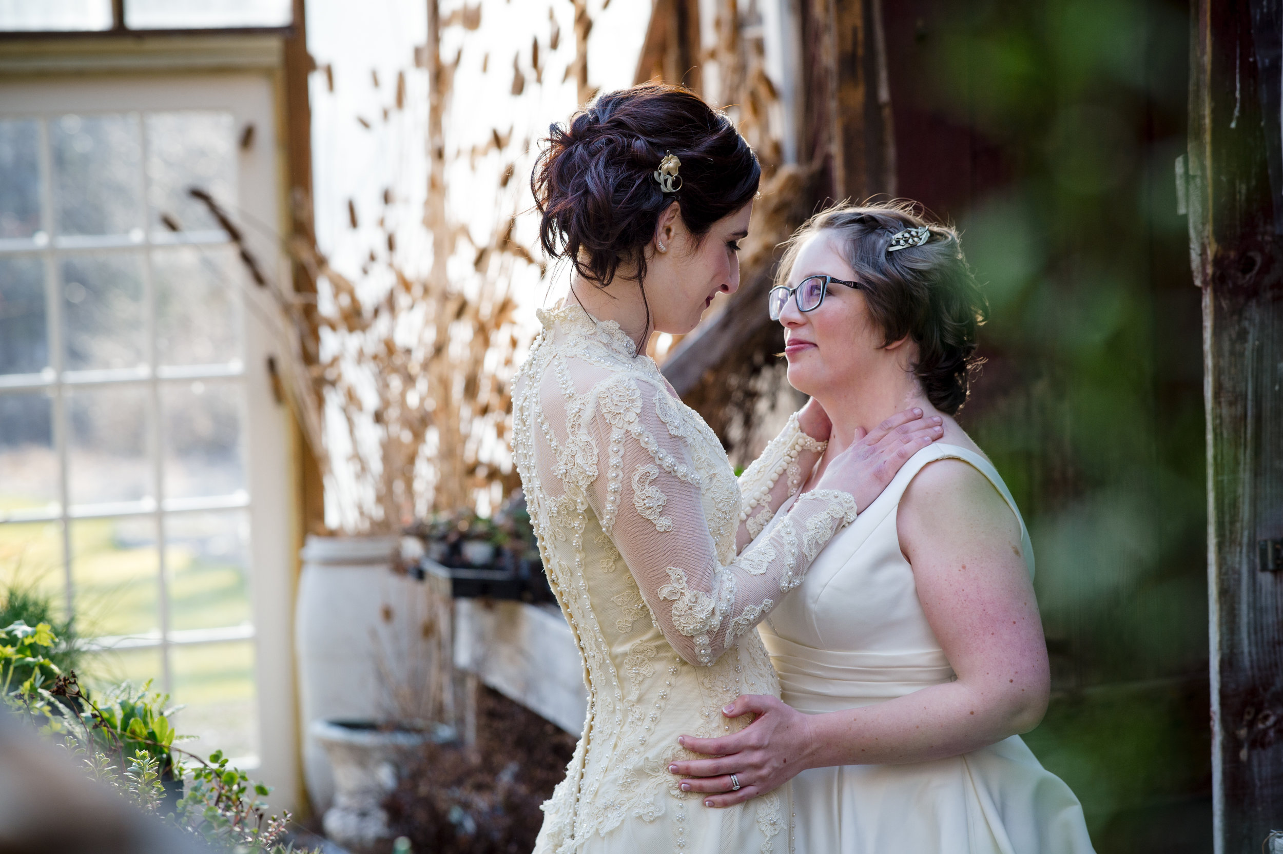 LGBTQ Brides at Hartman's Herb Farm Western Mass