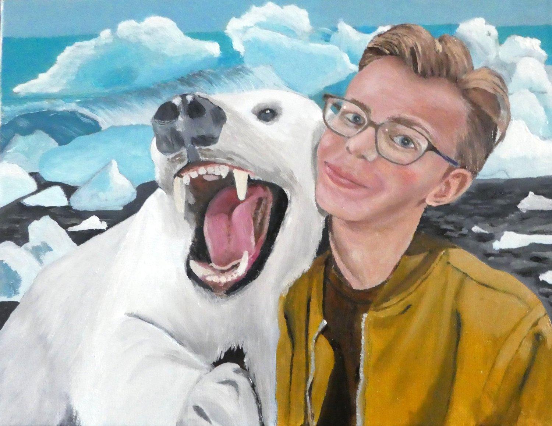 Jack with Polar Bear    22 cm (w) x 32 cm (h)
