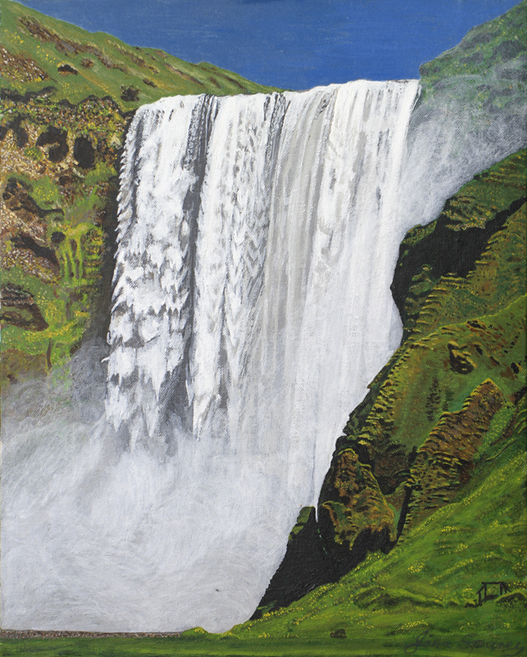 Skogarfoss waterfall 2    33 cm (w) x 41.5 cm (h)