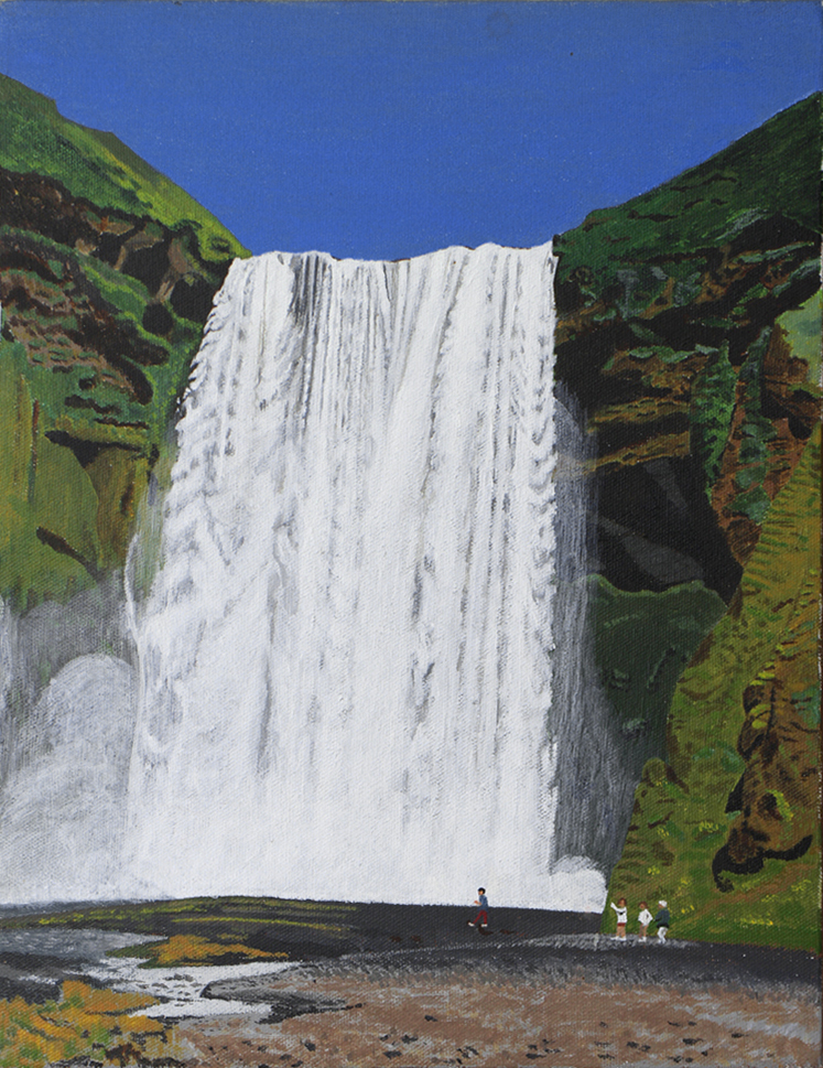 Skogarfoss waterfall 1    27.5 cm (w) x 35.5 cm (h)