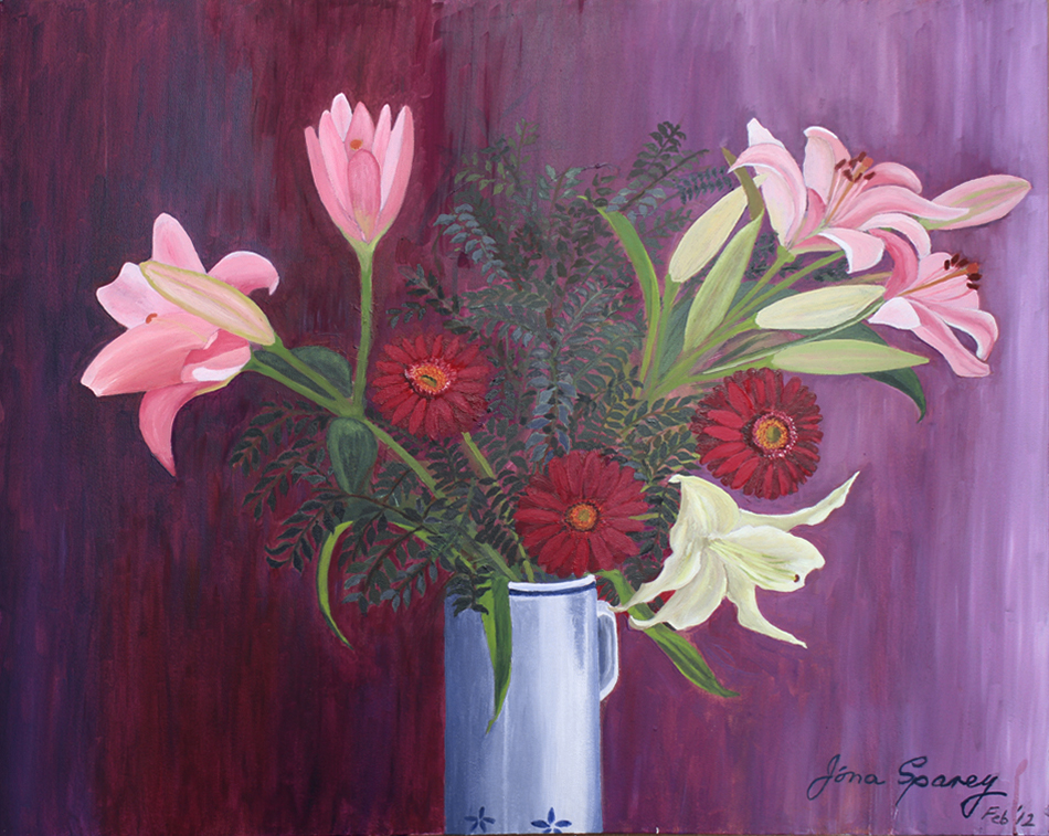 Vase of flowers    76 cm (w) x 60 cm (h)