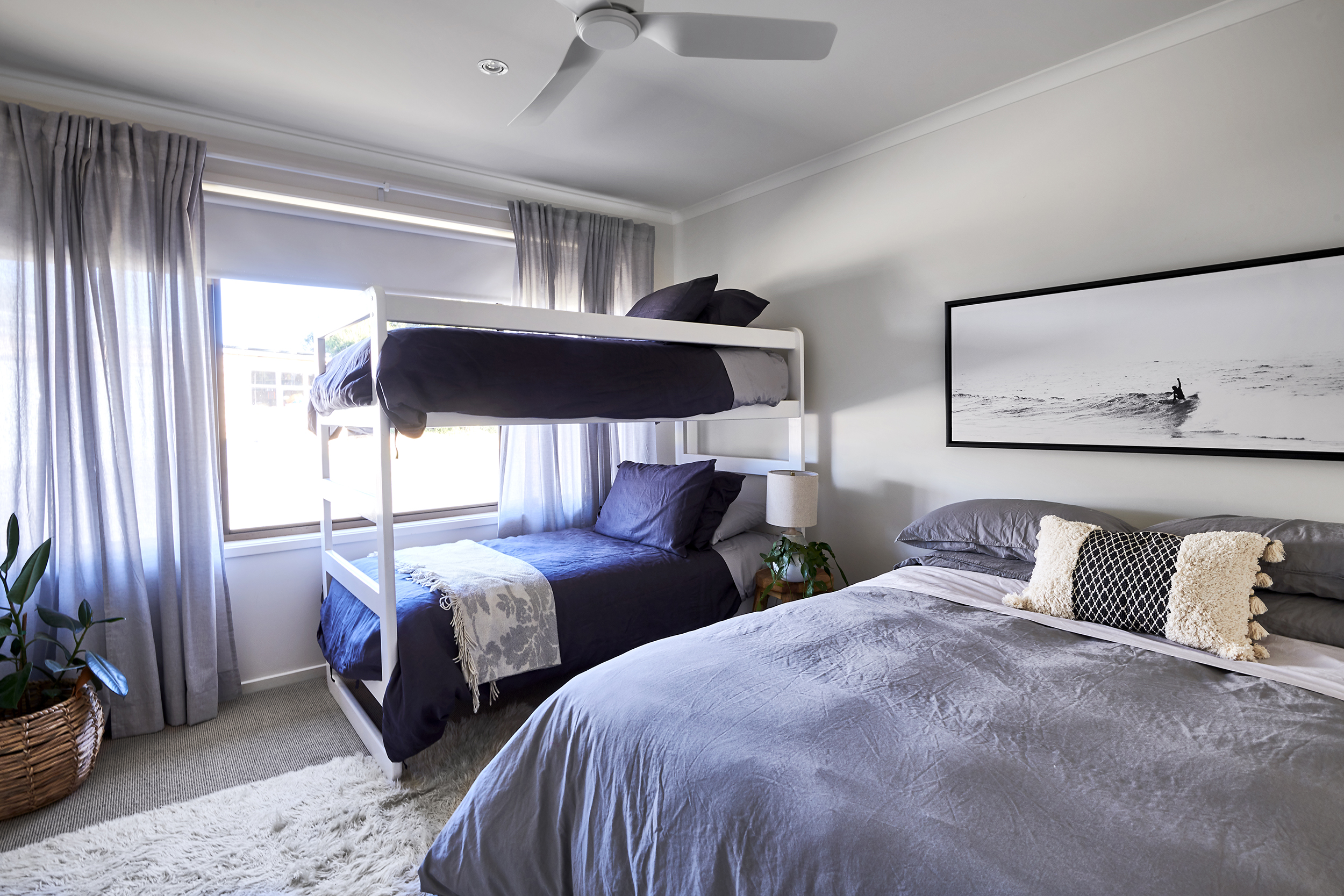 Sleep - The bedrooms are carefully curated with soft linens, comfortable beds, lush cushions and soothing textures throughout.