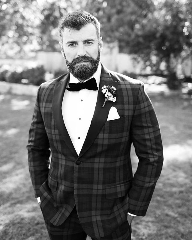 @murph.official rocking the raddest tartan tux 😍 #loveatmurphsight #sweeterds  Photographers: @jen.and.shane Planner: @twentyeightevents Venue: @calamigosranch Dresses: @allurebridals DJ: @westmwest Videographer: @spark.weddings Florals: @lileeolive Signs: @shewildflower_ Makeup: @bwtash Hair: @lacebhair @xoxomaddiejay Cake: @cakesbyclaritza
