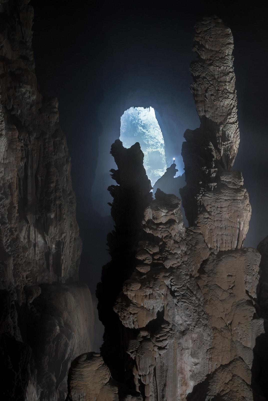 Hang Son Doong Cave Stalagmites Man Standing top-2.jpg