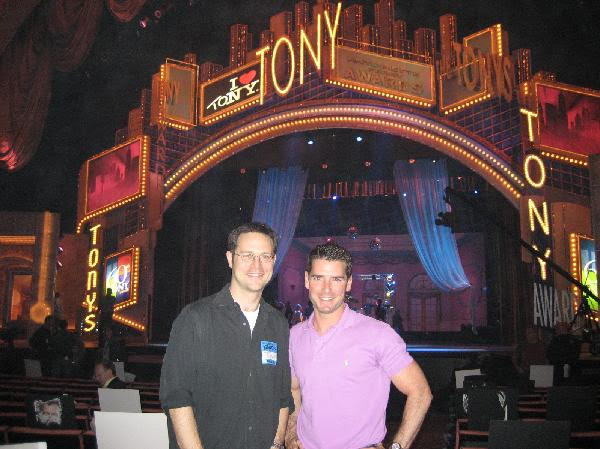 At rehearsal for their very first Tony Awards Ceremony.