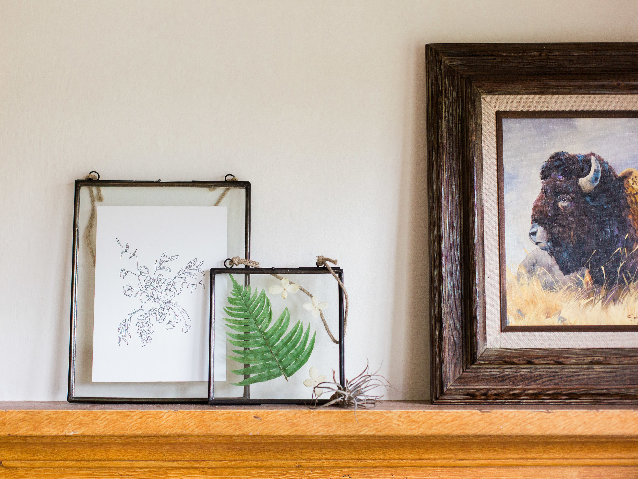 metal and glass frames from foragedhome.com