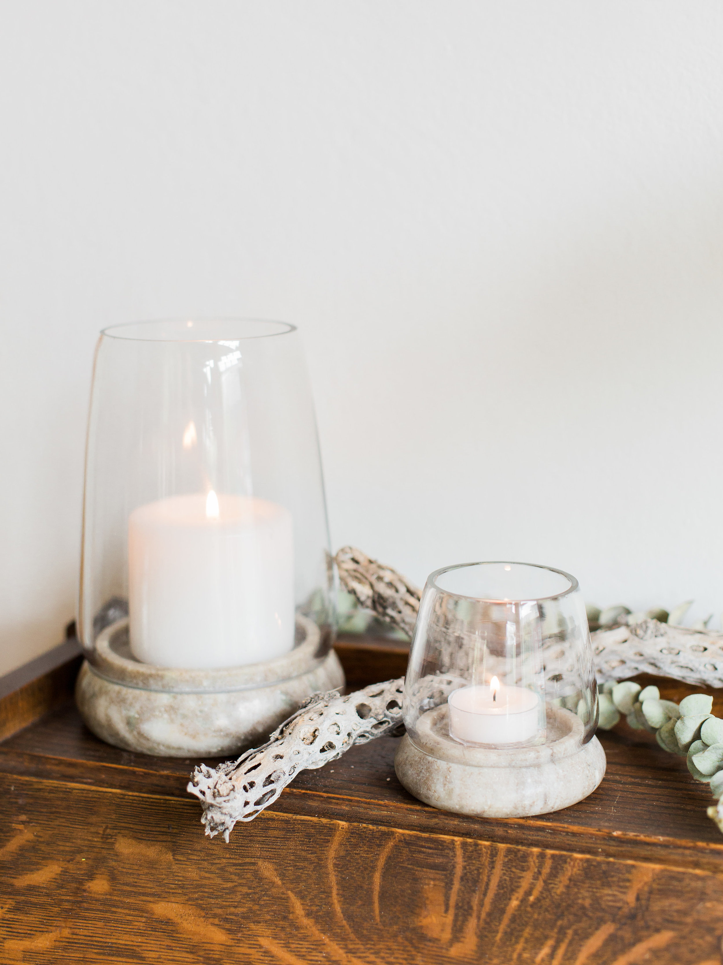 marble candle holders from foragedhome.com