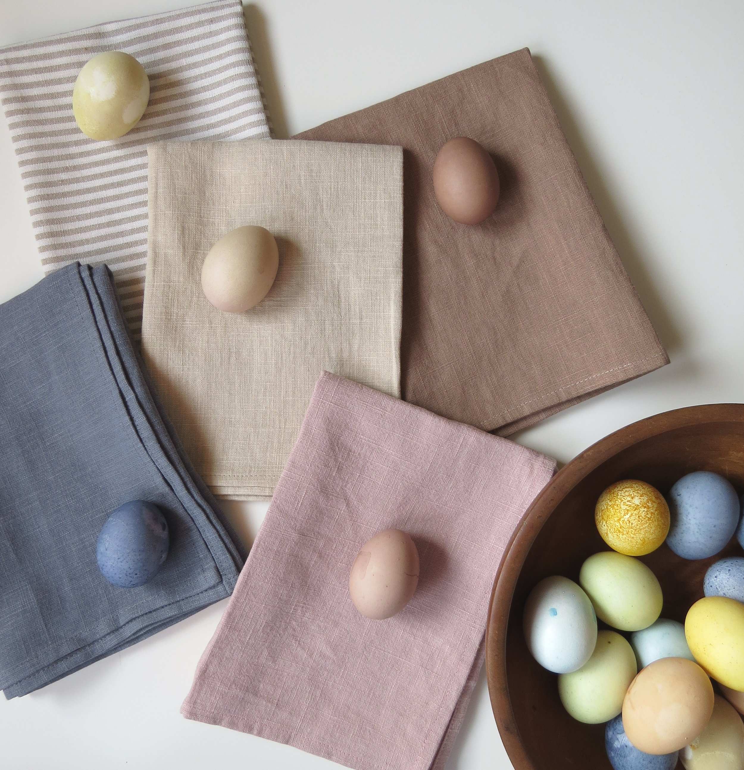 naturally dyed easter eggs pastel colors