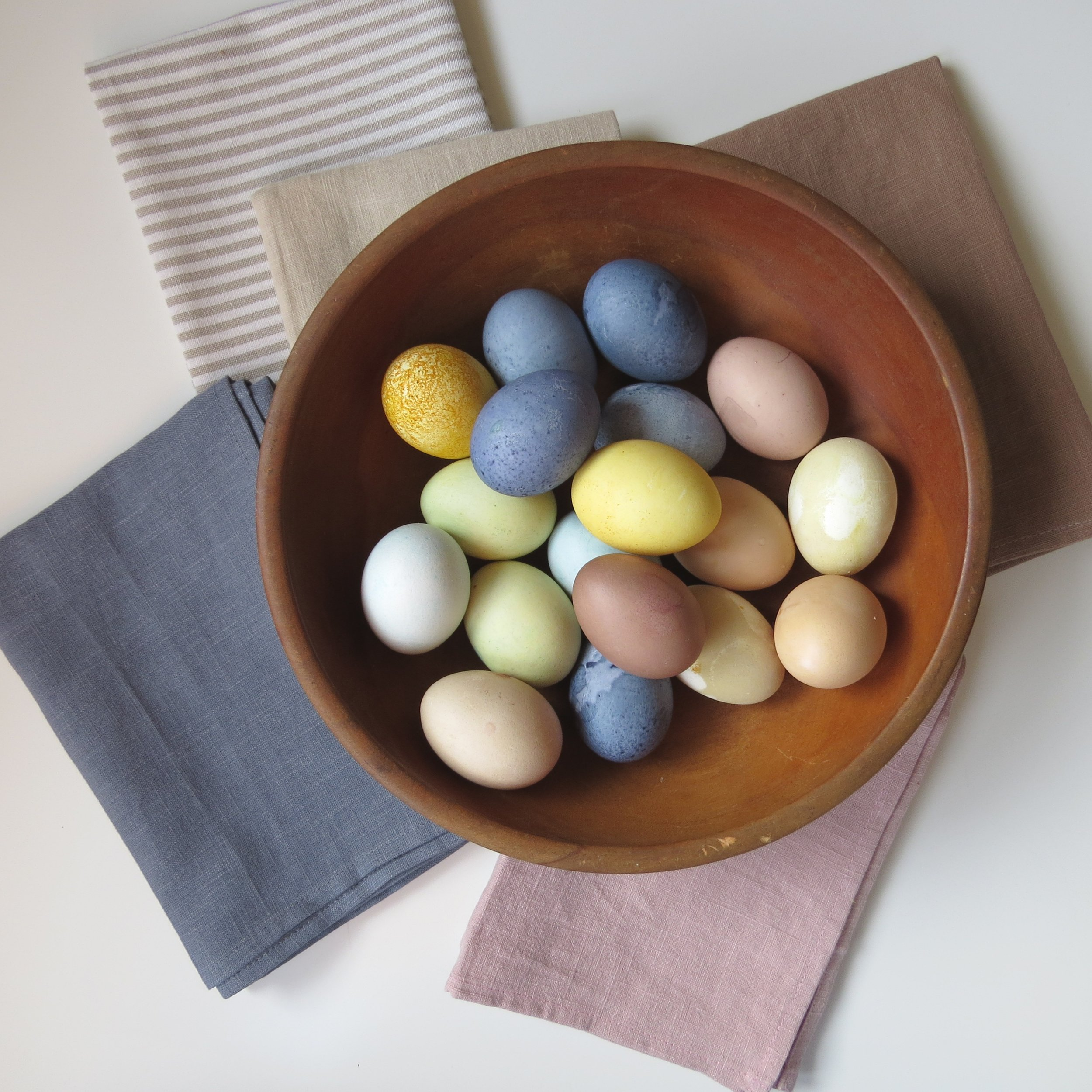 easy easter diy: naturaly dyed easter eggs from livingforaged.com