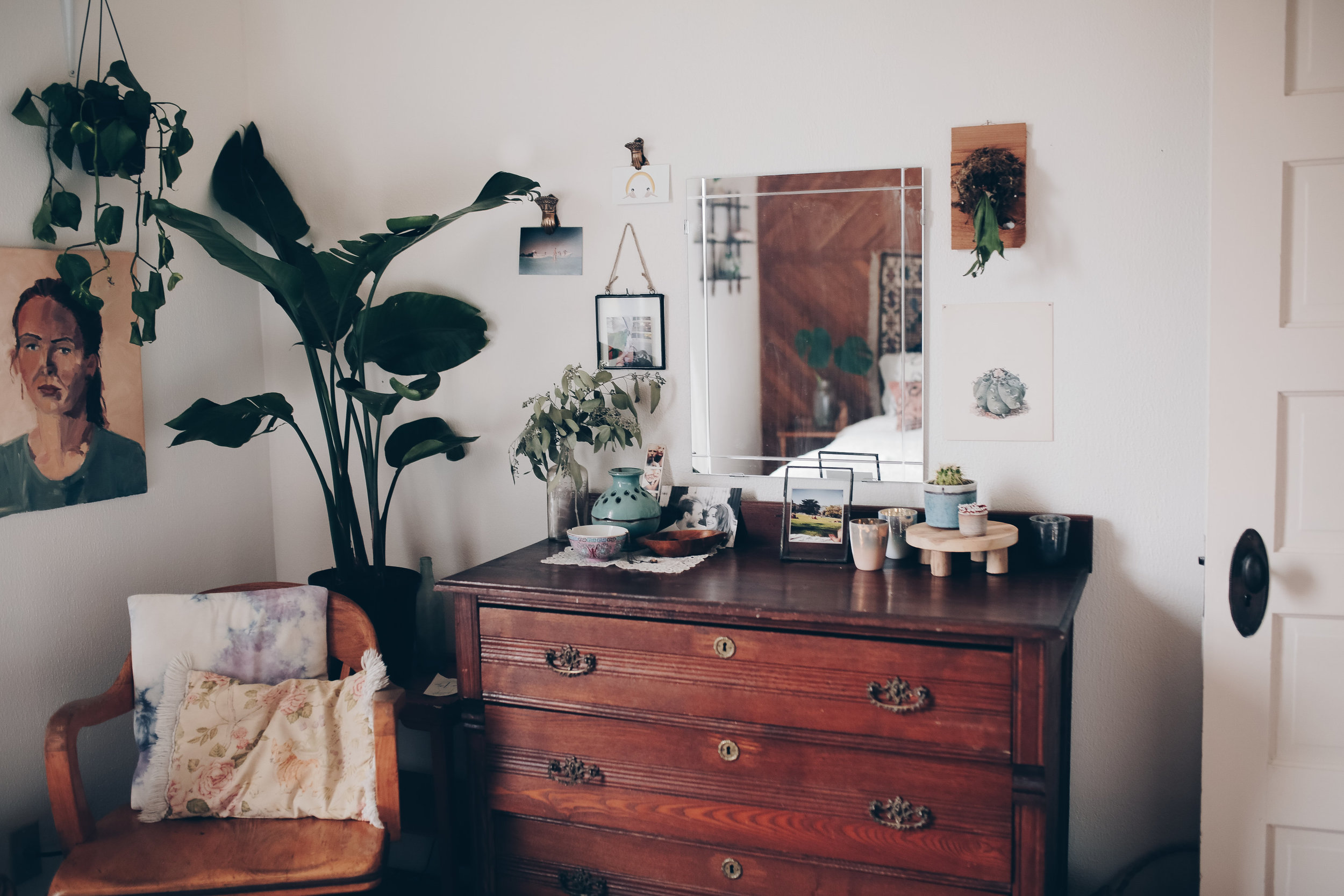modern bohemian bedroom decor from foragedhome.com