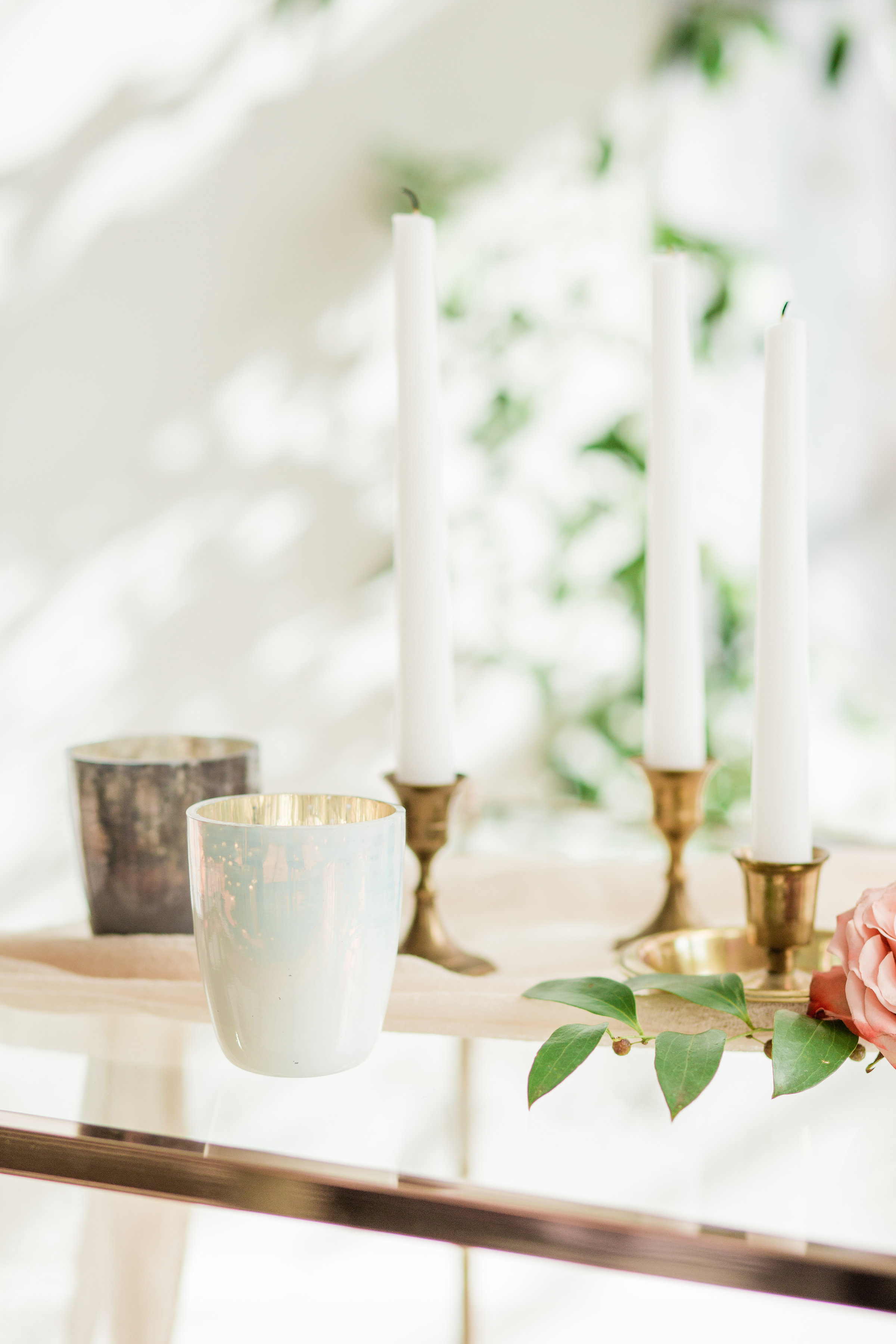 foraged home tealight votives in pastel colors