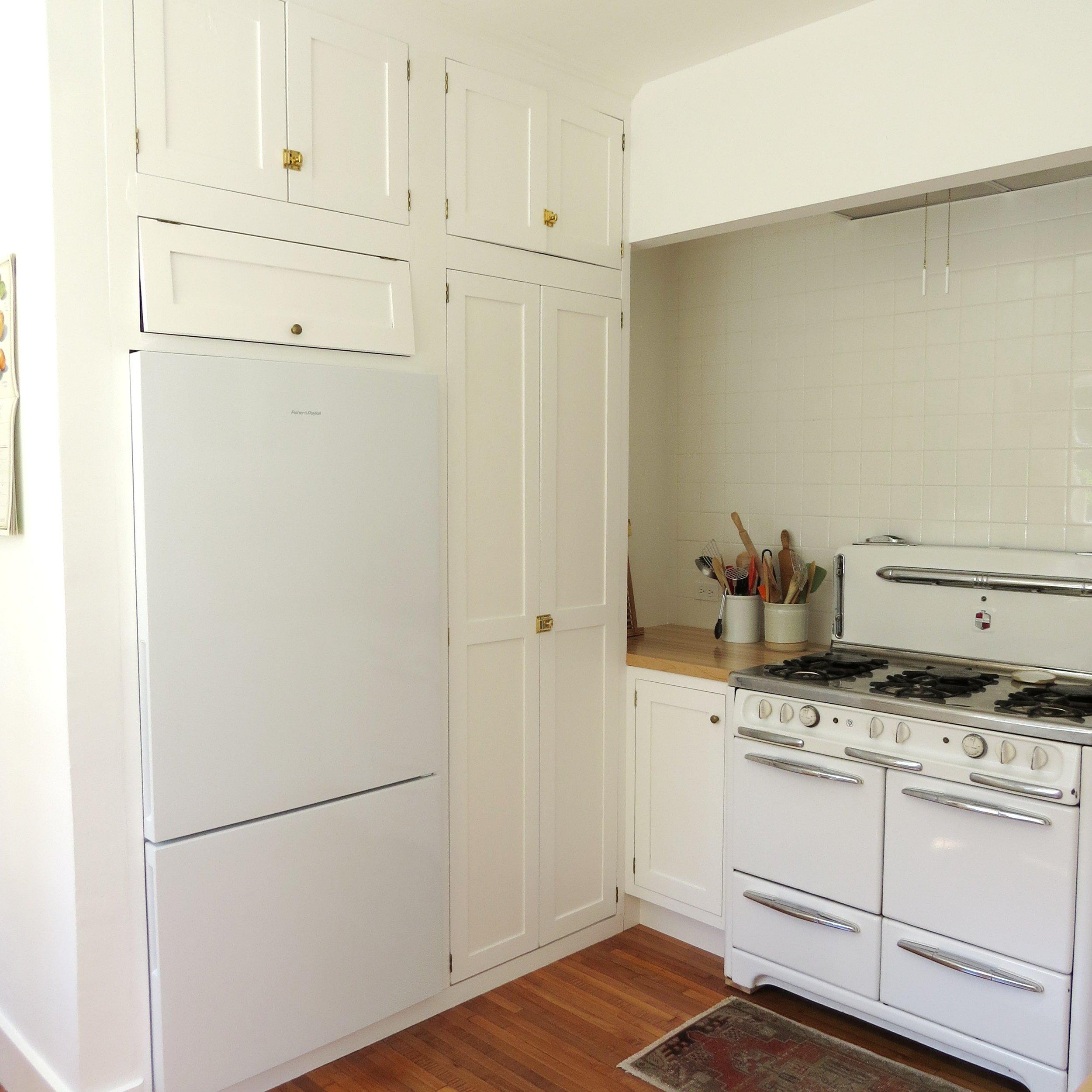 all white vintage kitchen renovation portland oregon
