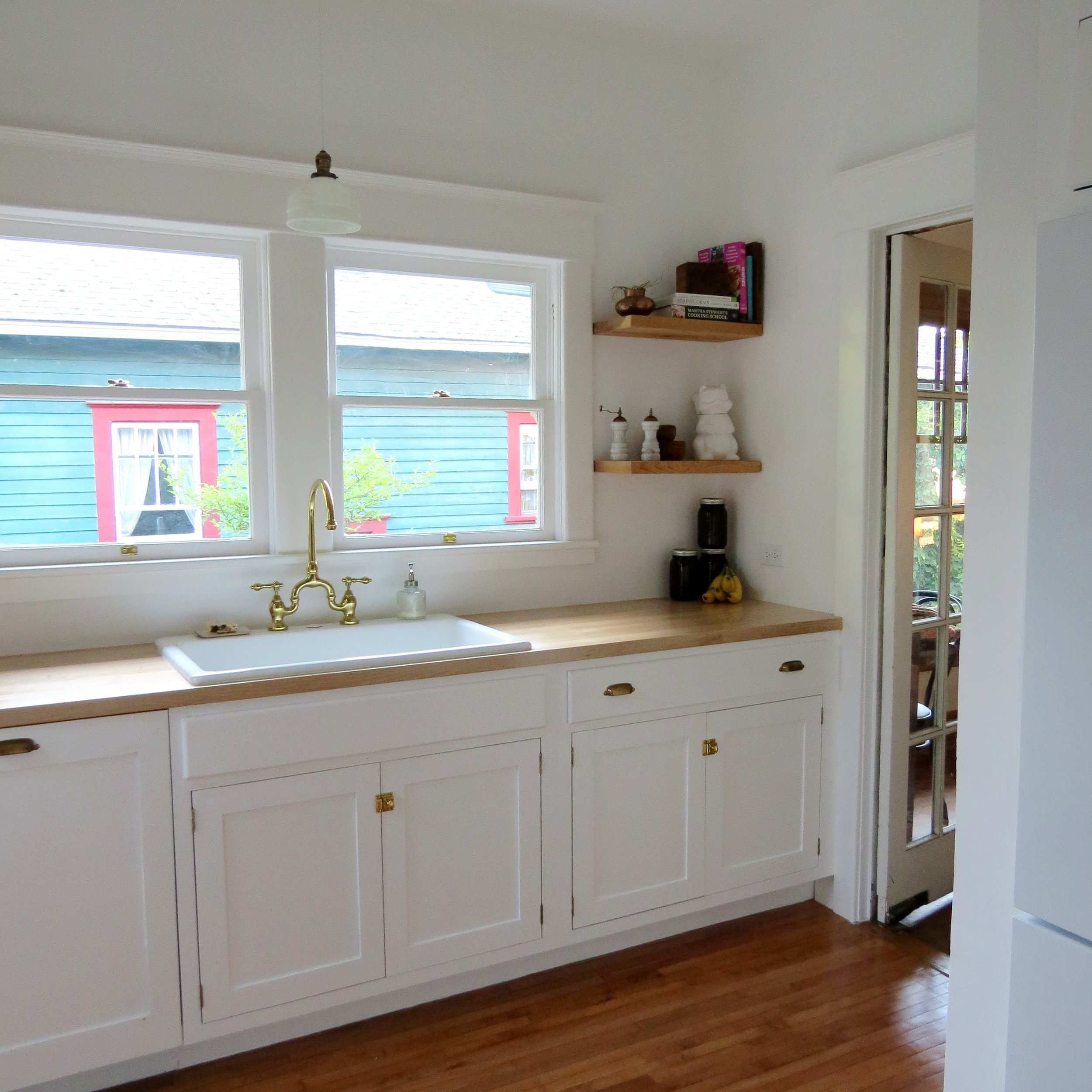 craftsman kitchen renovation white kitchen