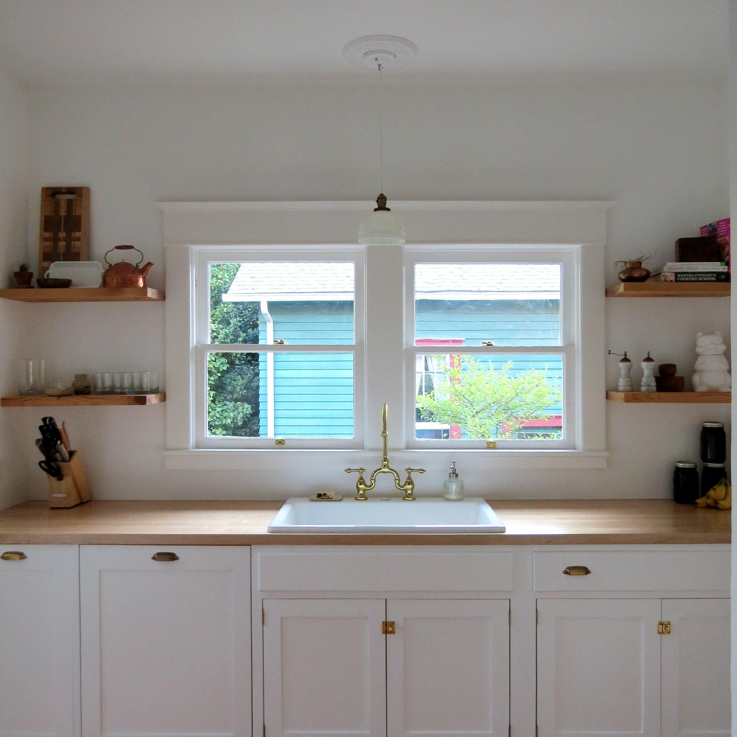 white kitchen inspiration in craftsman house