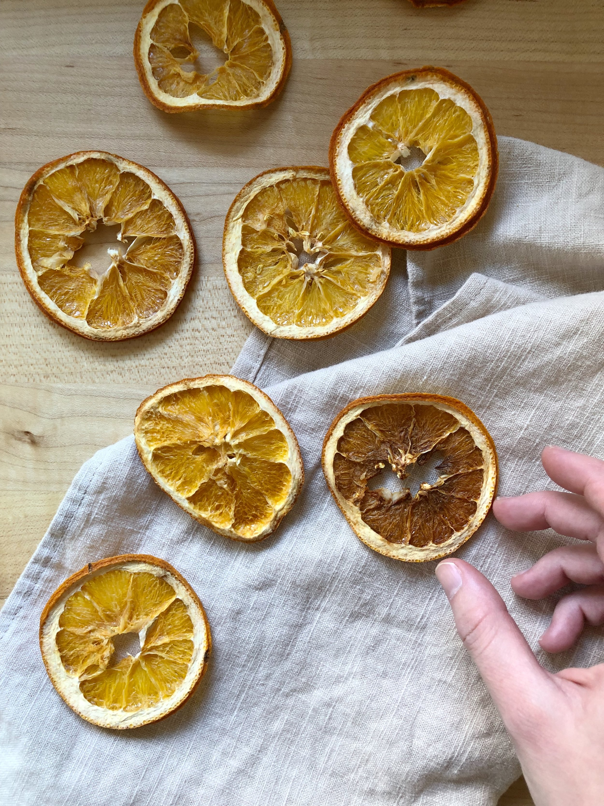 how to oven dry orange slices