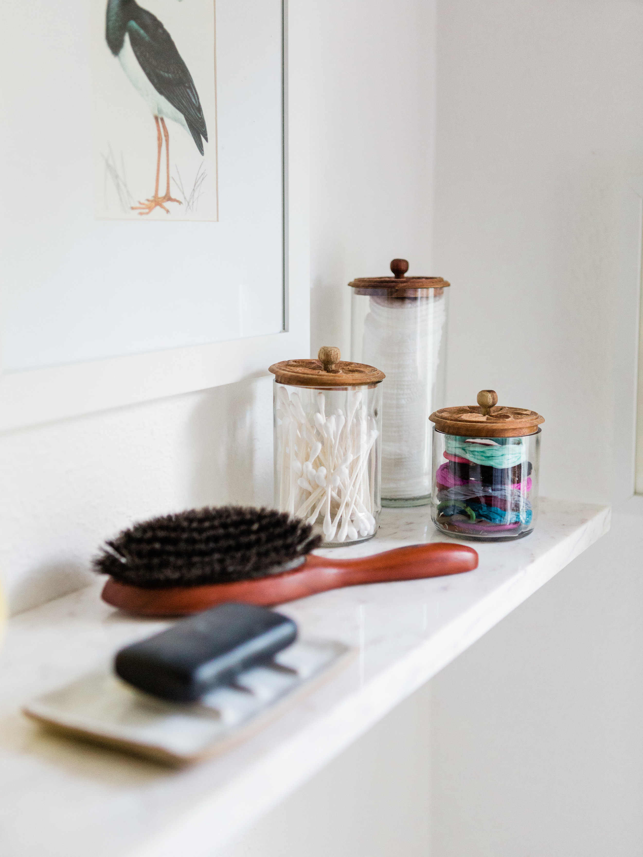 minimal and simple bathroom storage from foragedhome.com