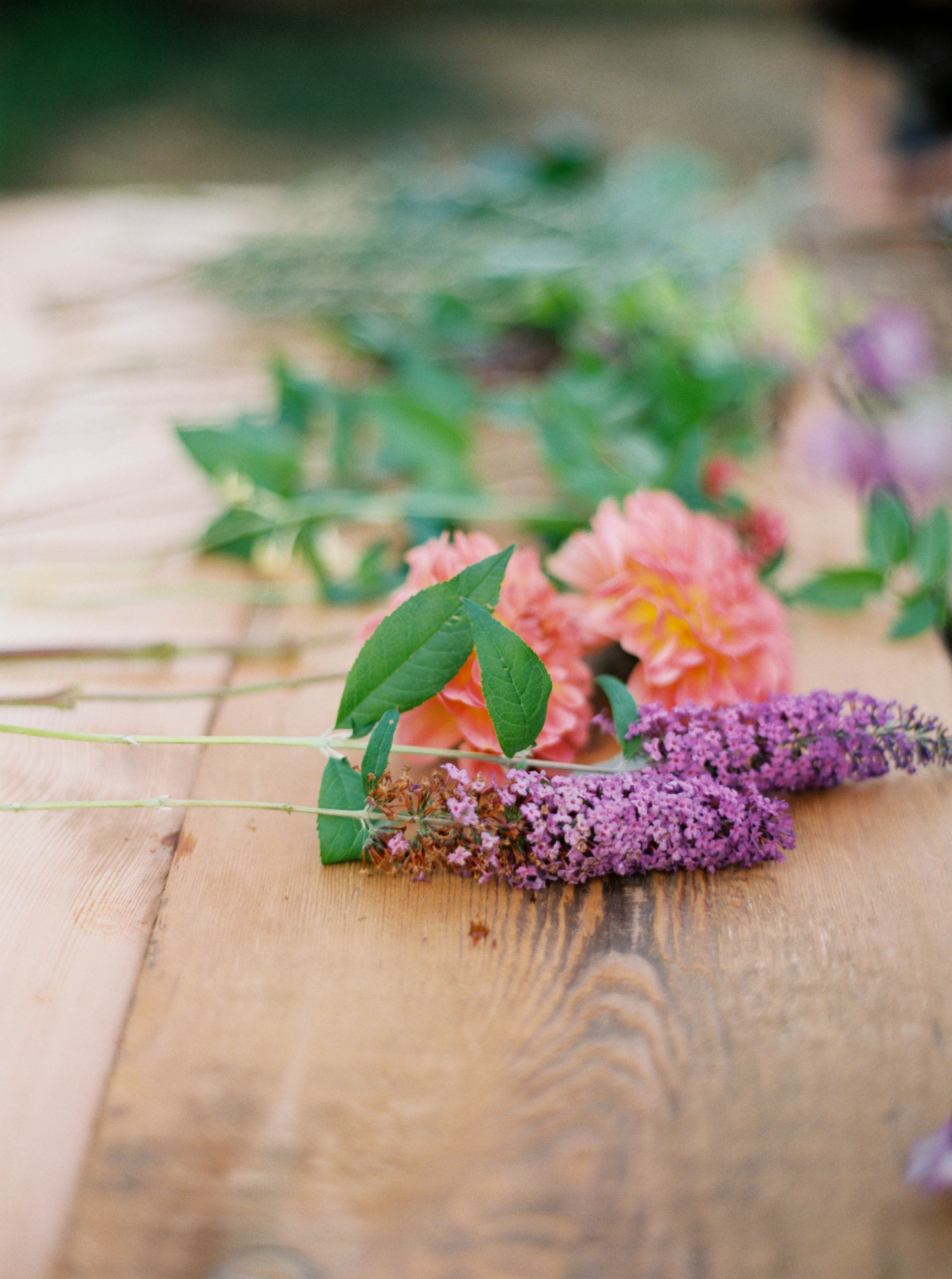 foraged flowers for bouquet