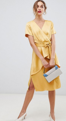 summer-wedding-guest-dresses-yellow-satin-wrap-dress.png