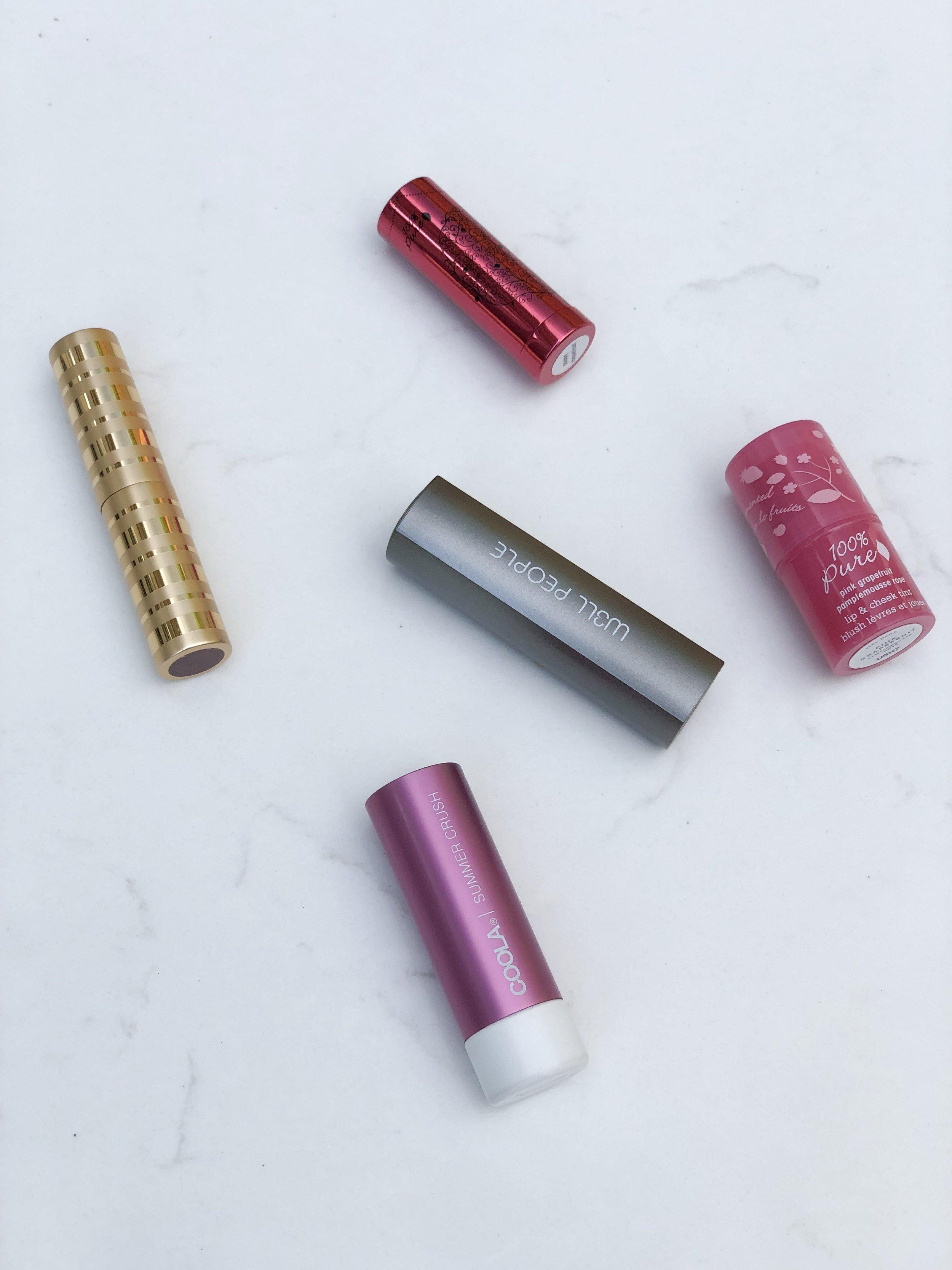 clean beauty summer lipsticks on livingforaged.com