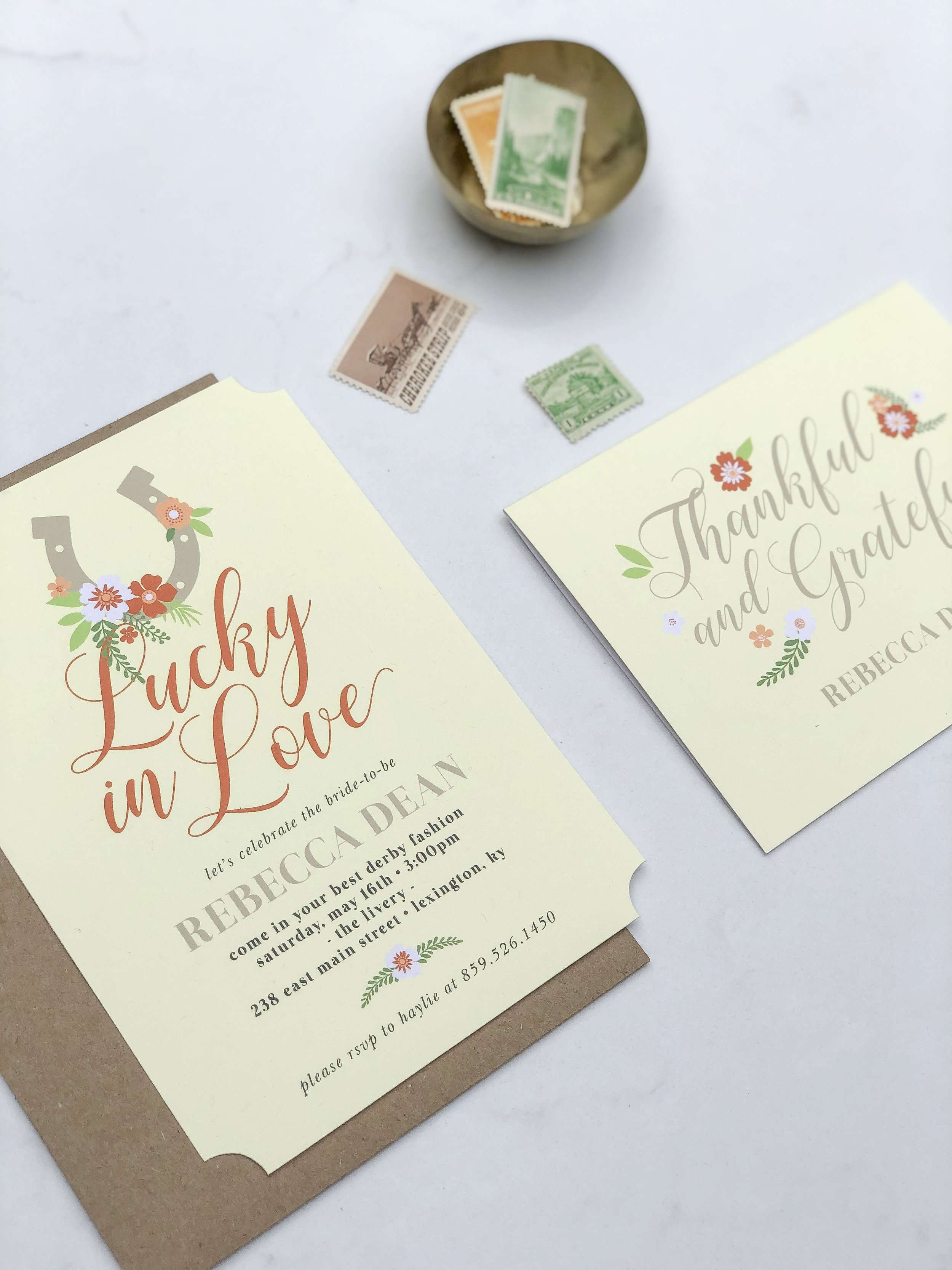 rustic derby inspired bridal shower invites on livingforaged.com