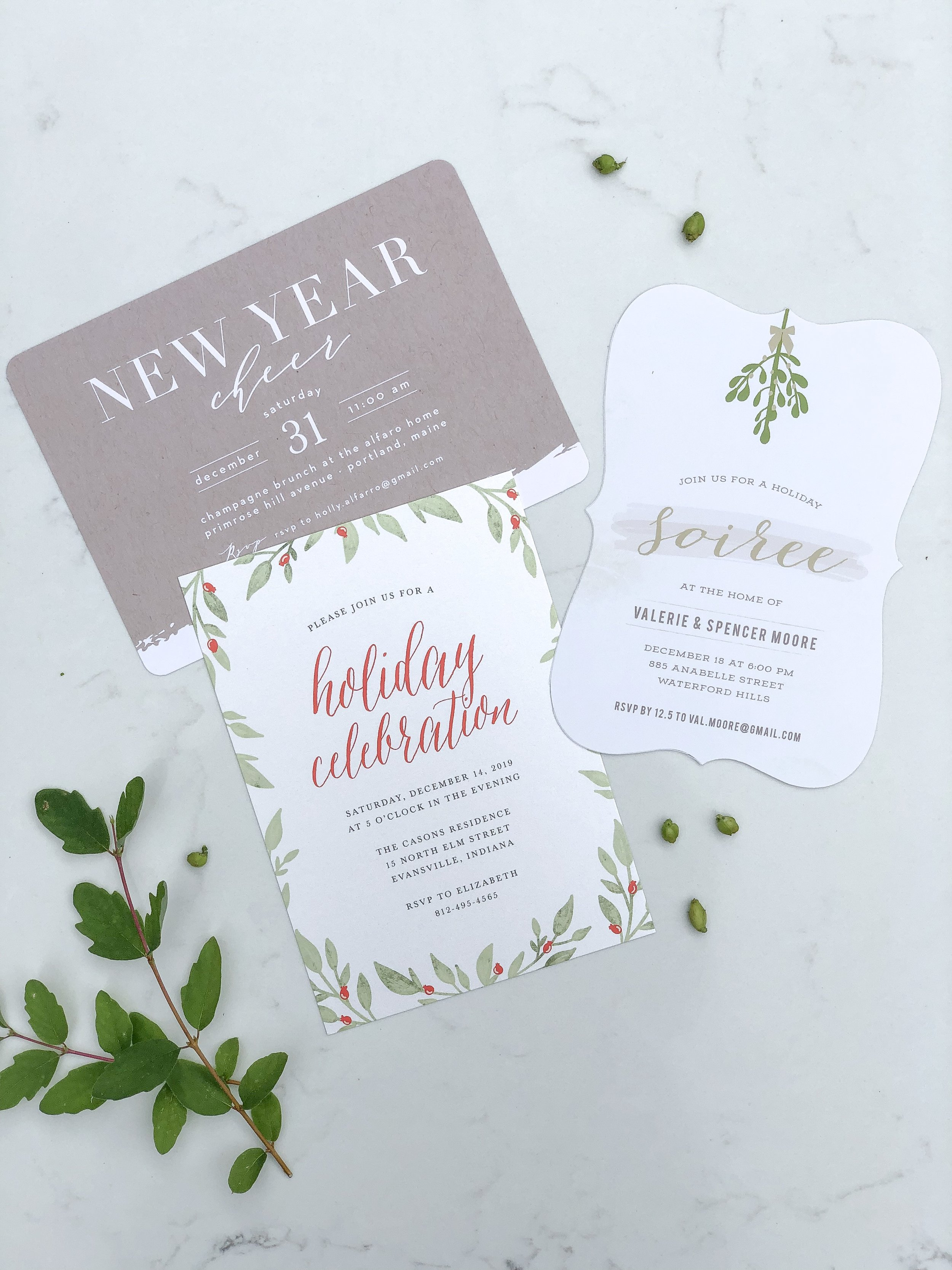holiday cards from basic invite on livingforaged.com