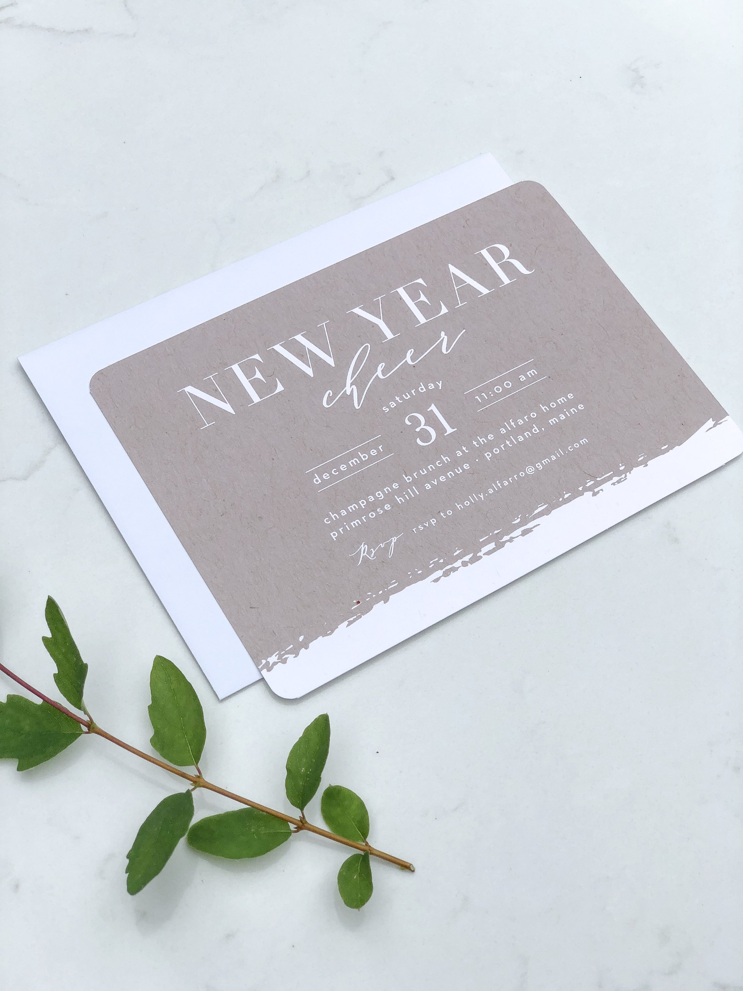 new years card from basic invite
