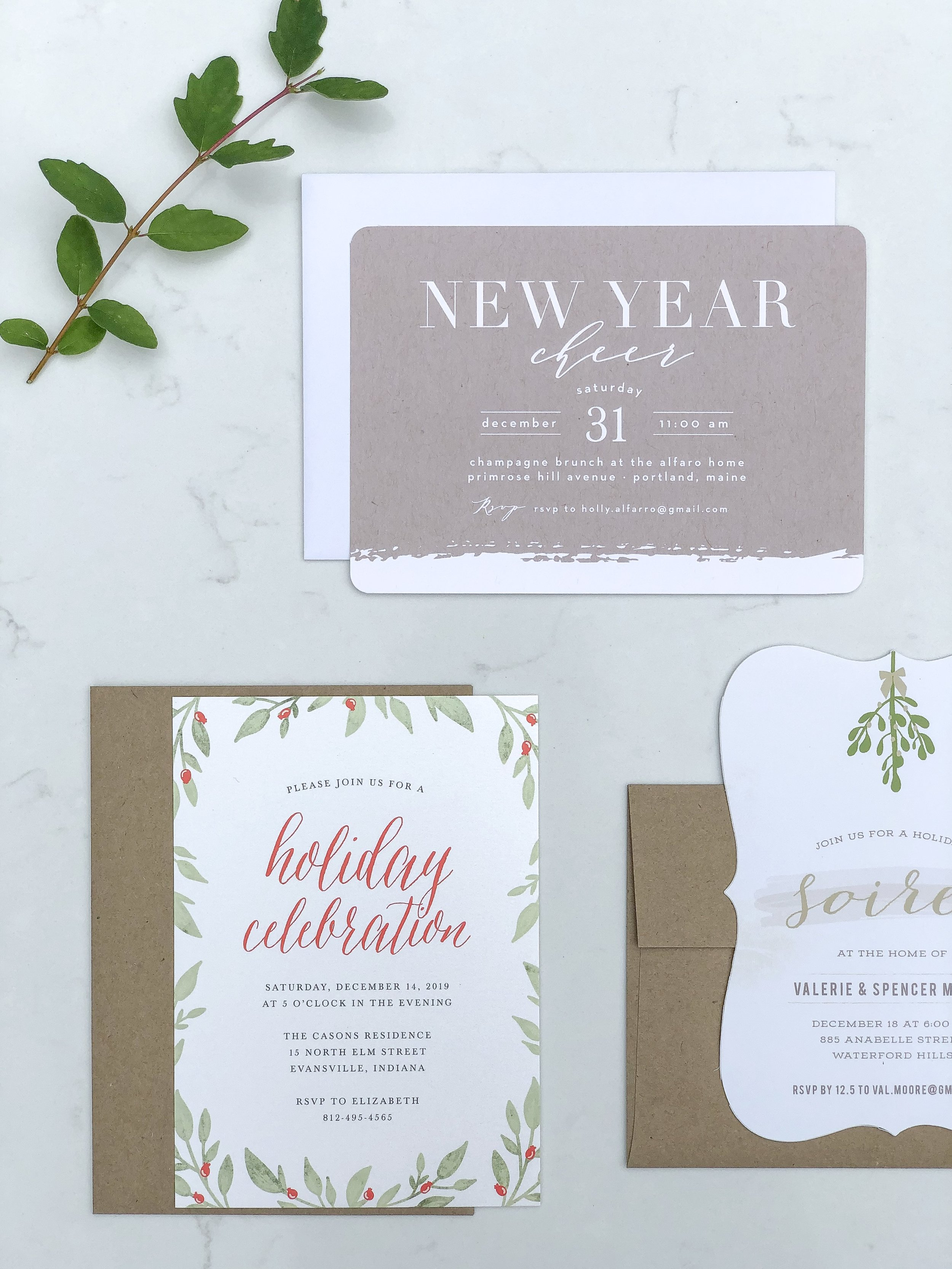 festive holiday cards from basic invite