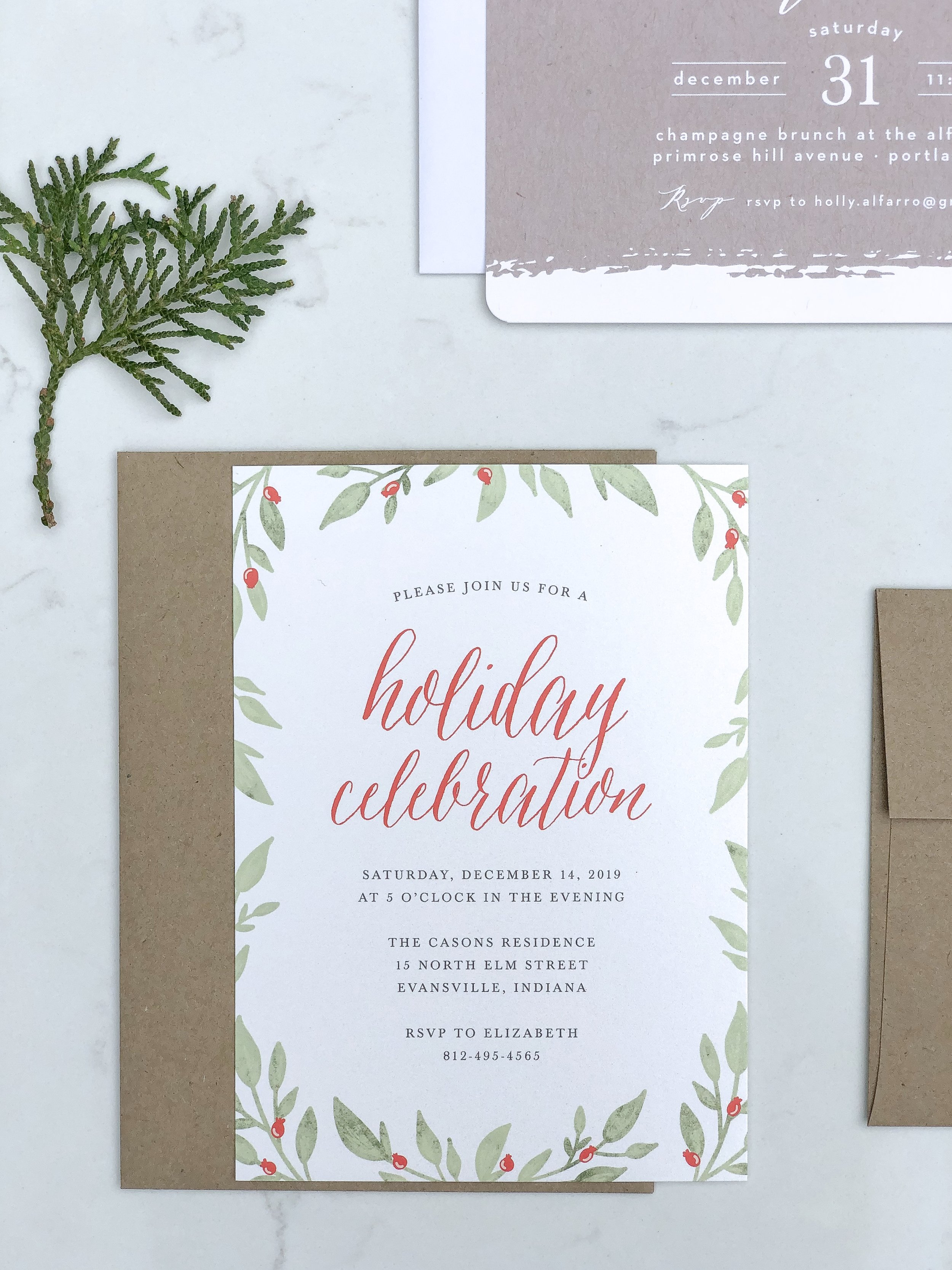 inexpensive holiday cards on livingforaged.com