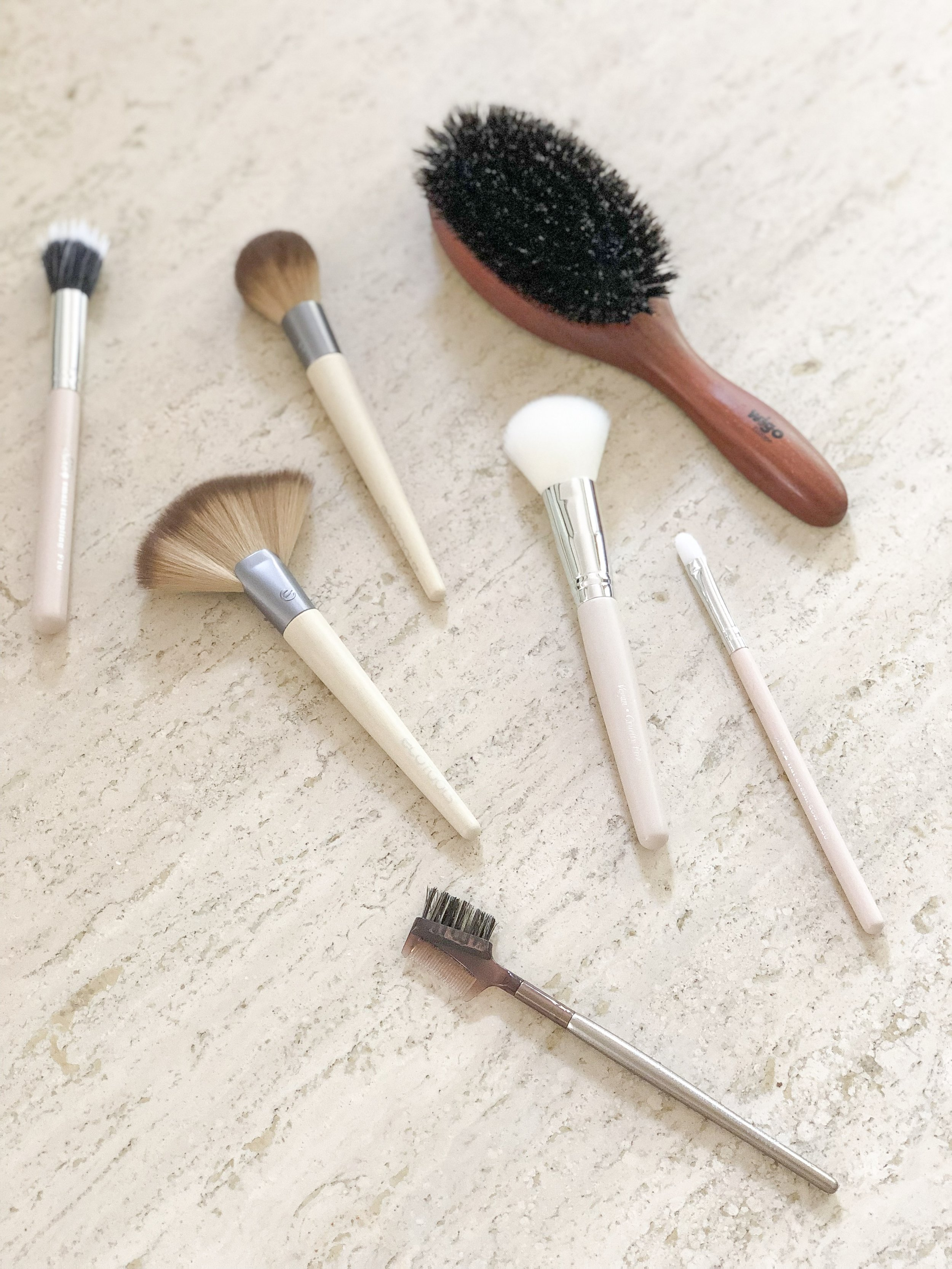 how to clean makeup and hair brushes on livingforaged.com